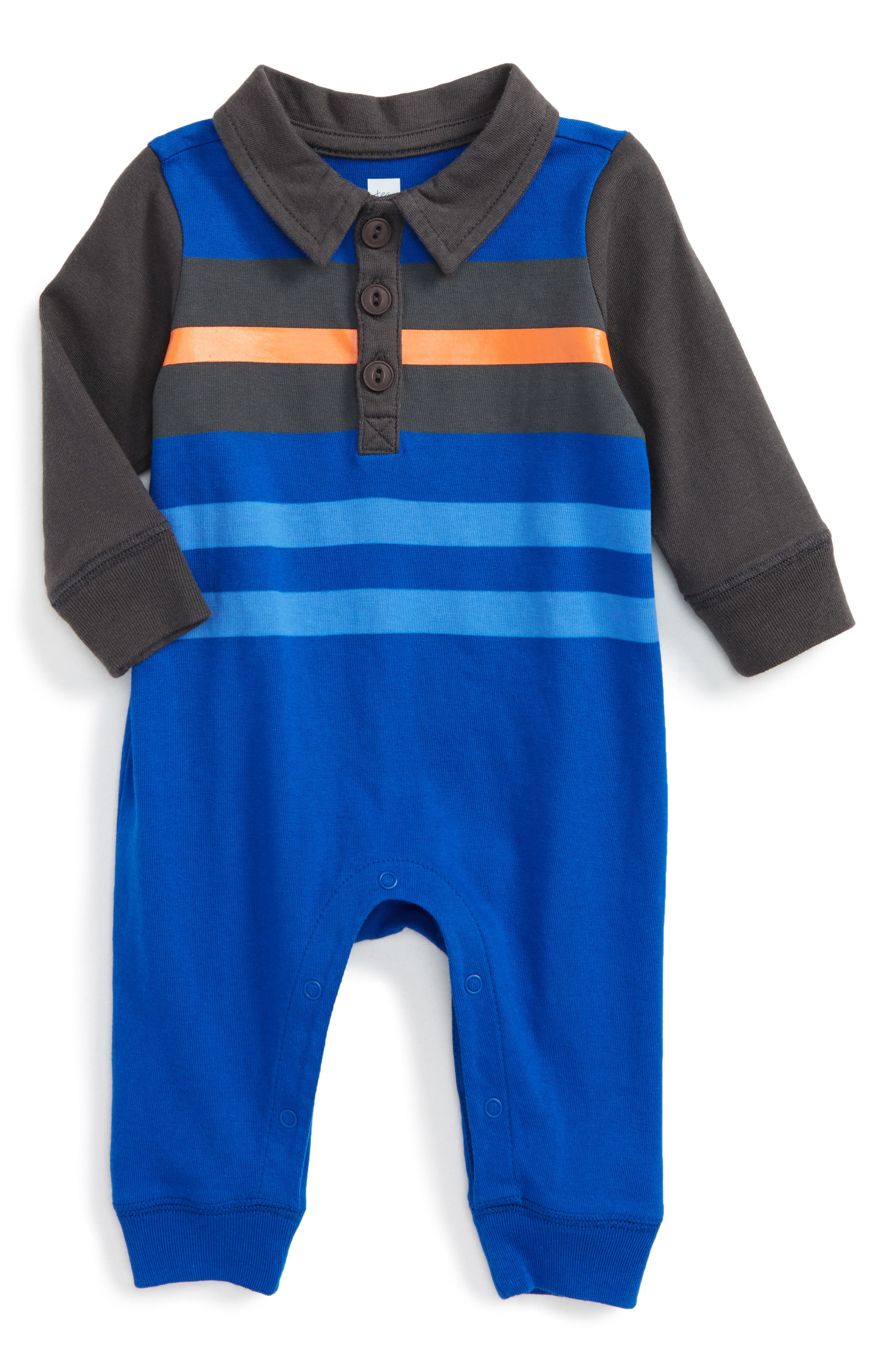 Tea Collection Speirs Wharf Polo Romper (Baby Boys)