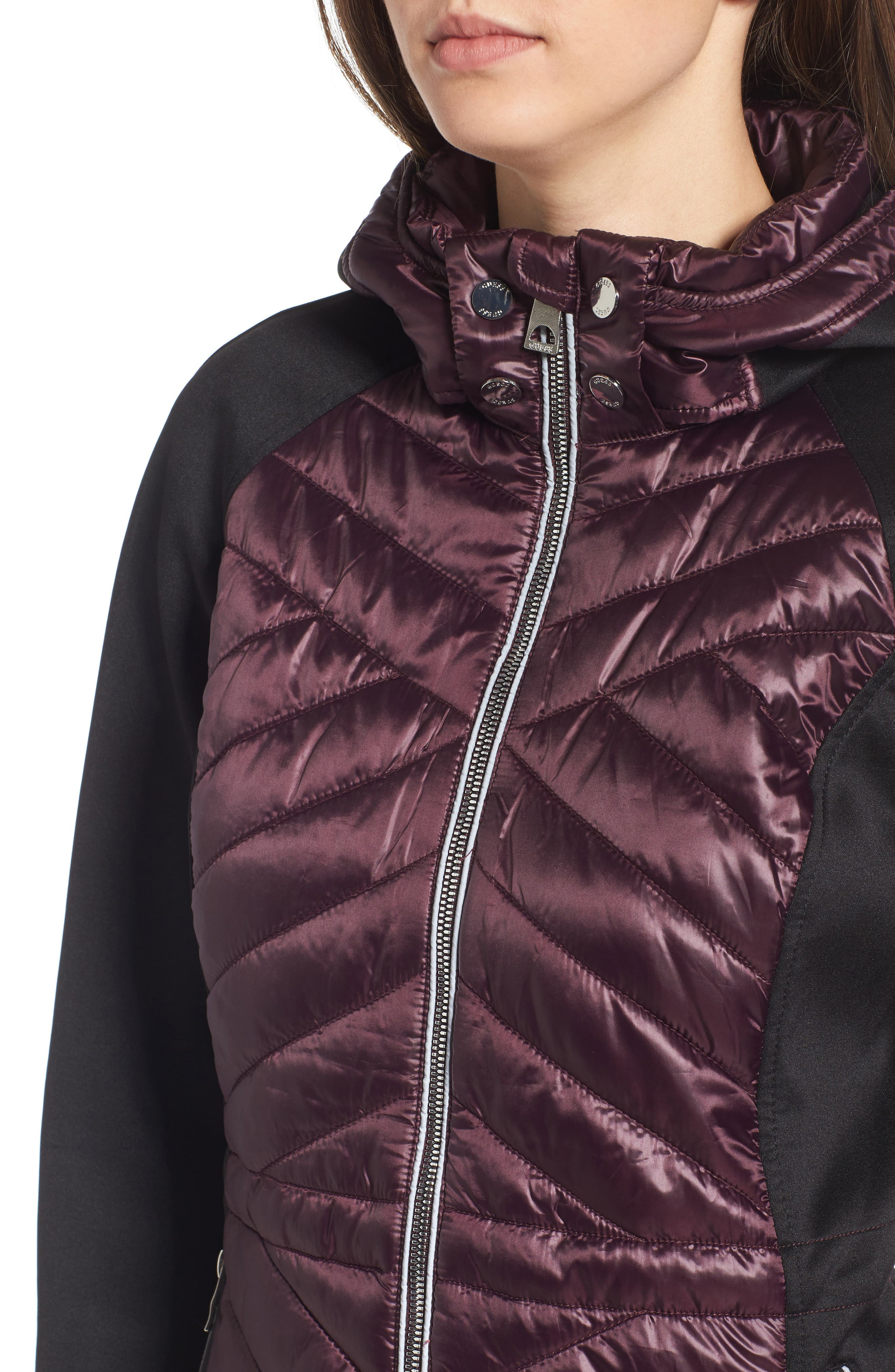 Insulated Anorak Jacket,                             Alternate thumbnail 4, color,                             Wine