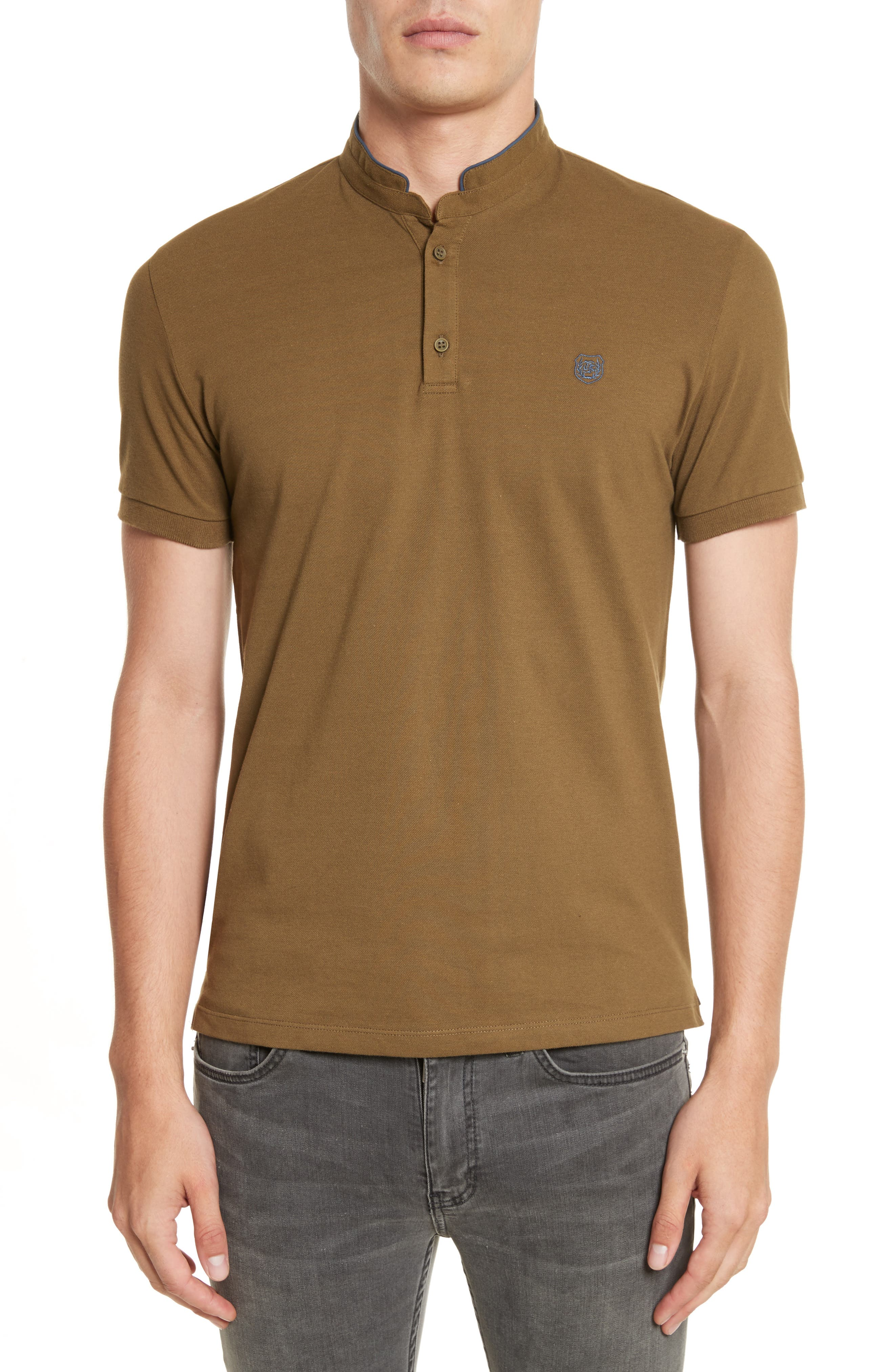 The Kooples SPORT Contrast Officer Collar Polo