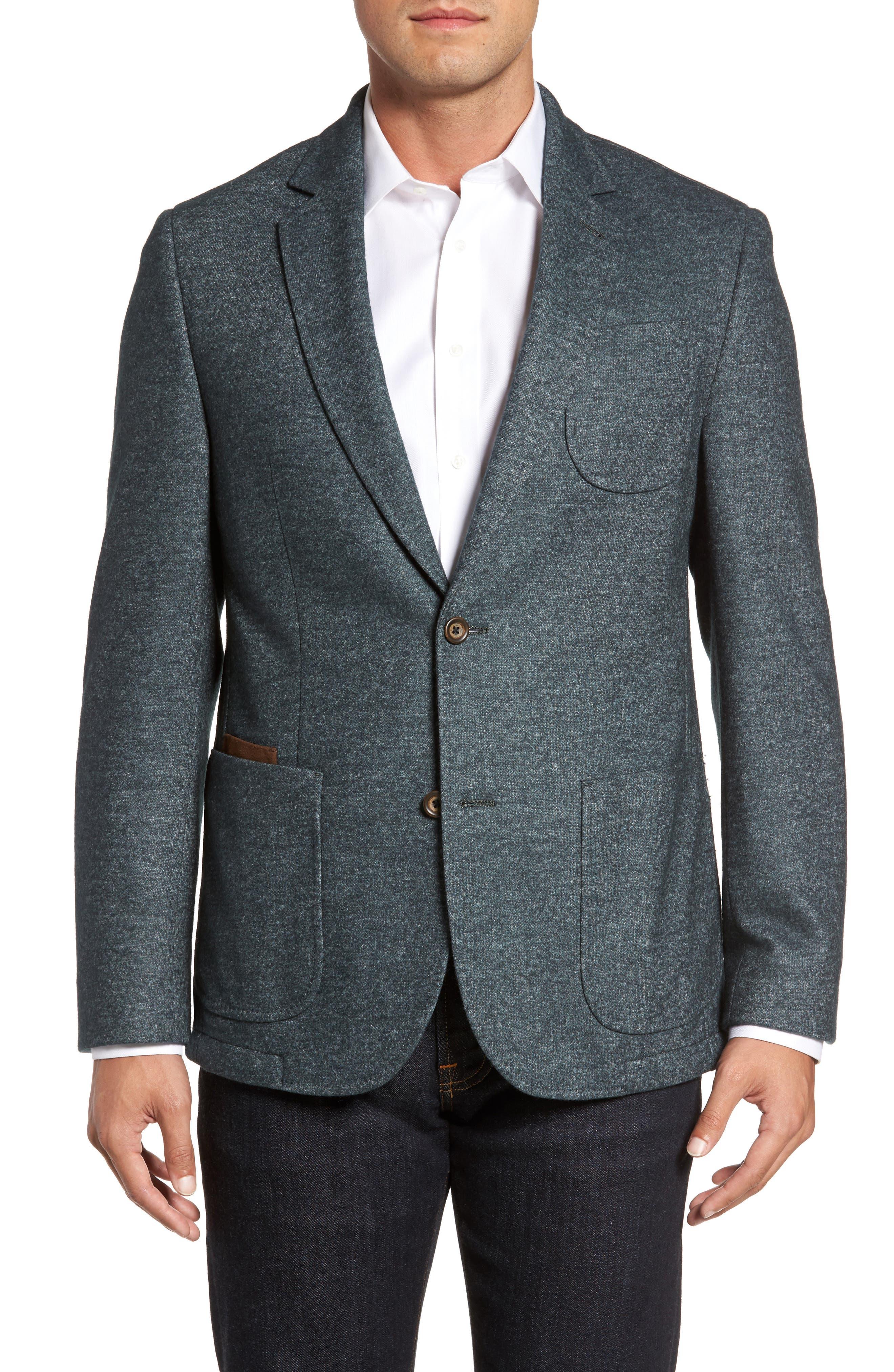 FLYNT Classic Fit Suede Trim Jersey Sport Coat