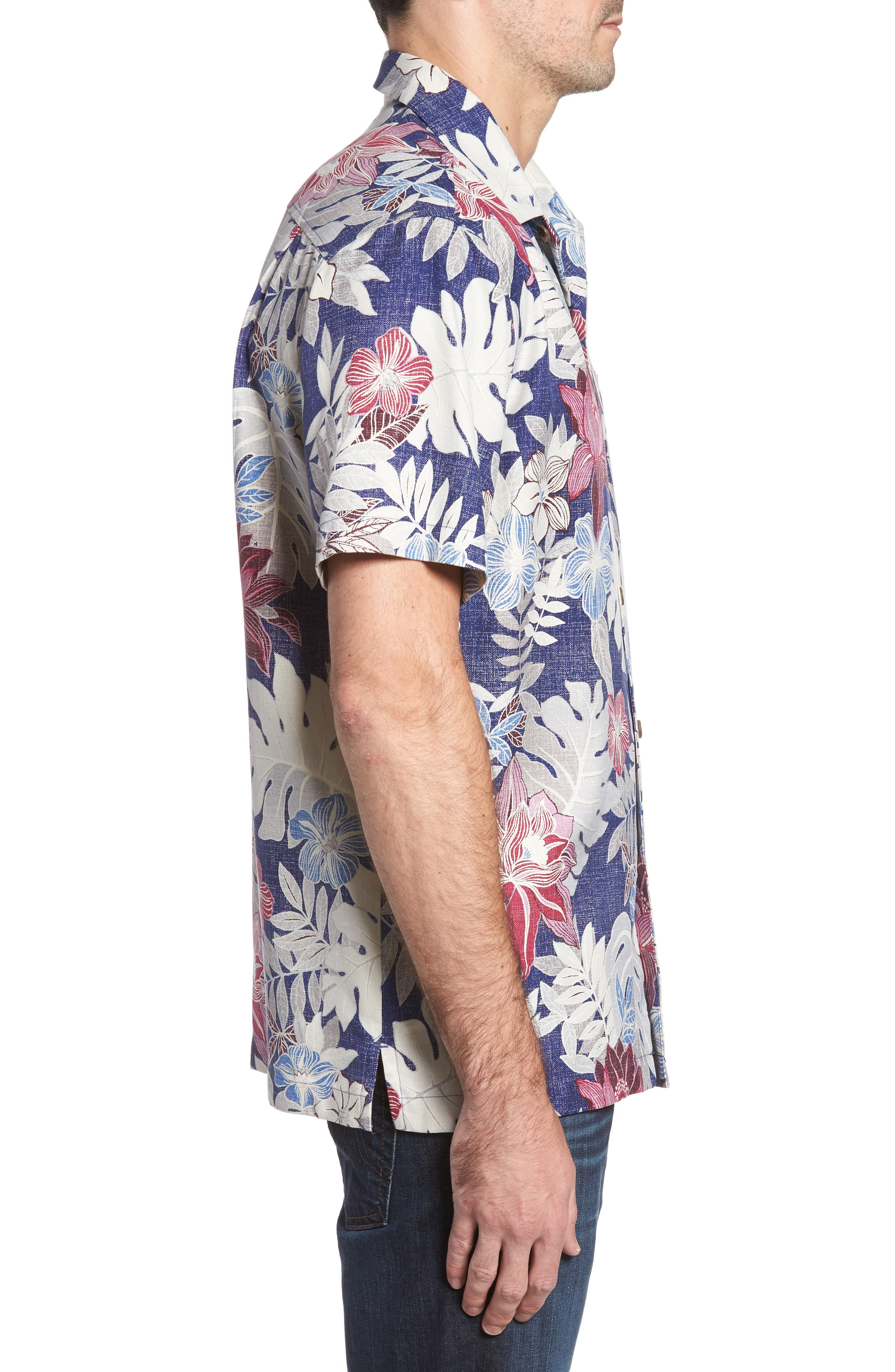 Alternate Image 3  - Tommy Bahama Desert Blooms Original Fit Print Silk Camp Shirt
