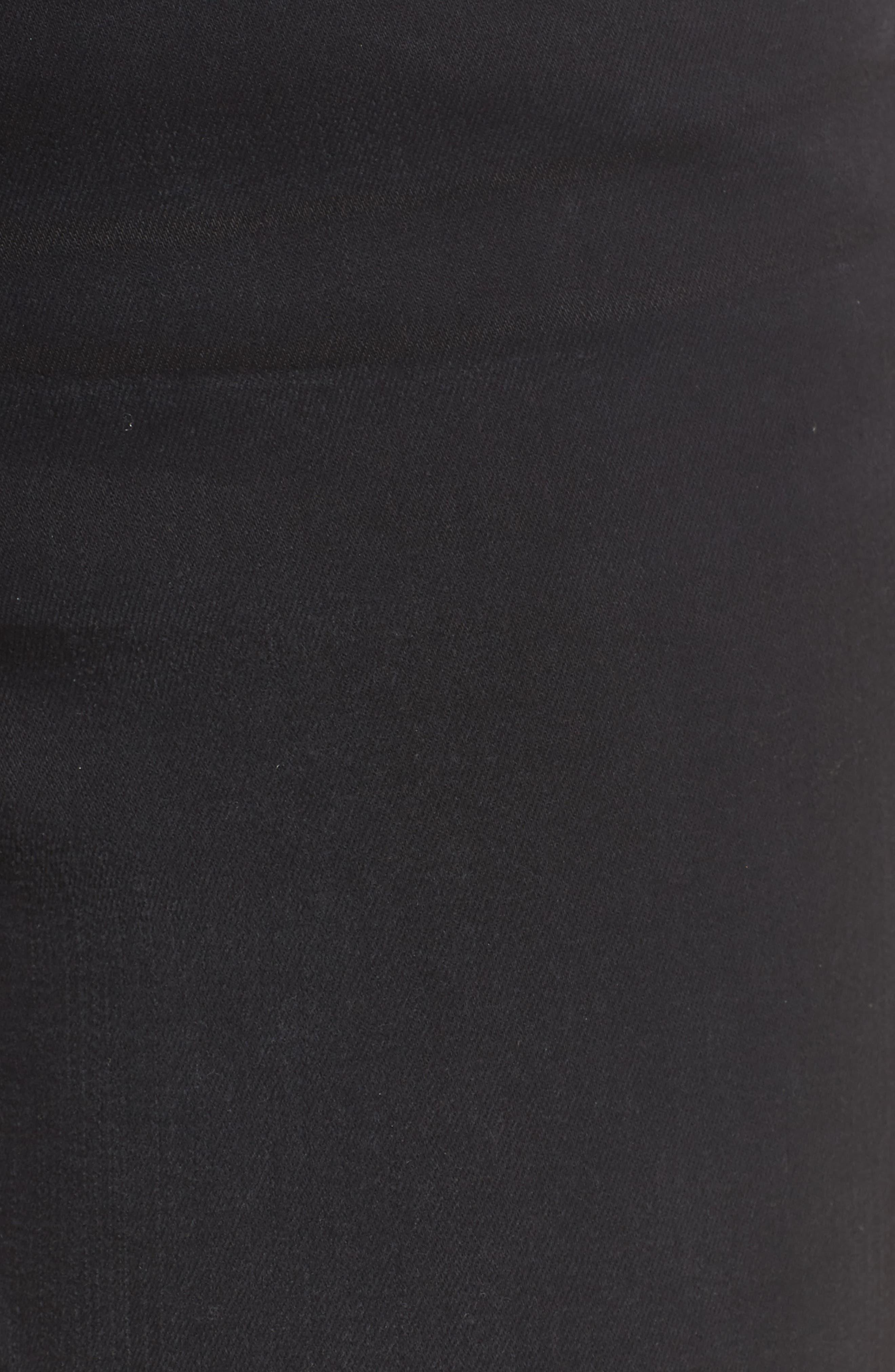 Alternate Image 6  - FRAME Le High Shredded Skinny Jeans (Noir) (Nordstrom Exclusive)