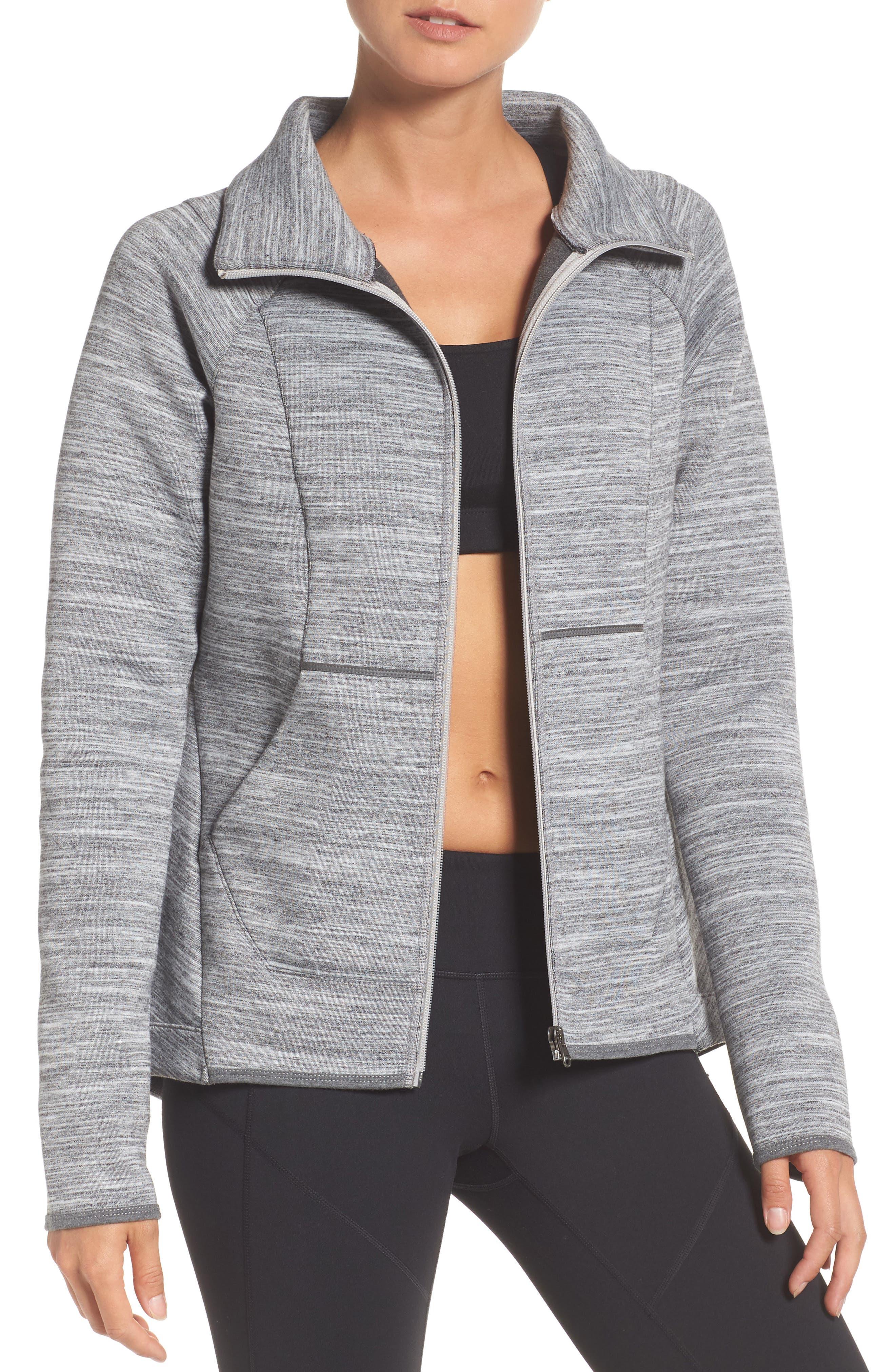 Interval Training Jacket,                         Main,                         color, Grey Medium Charcoal Heather