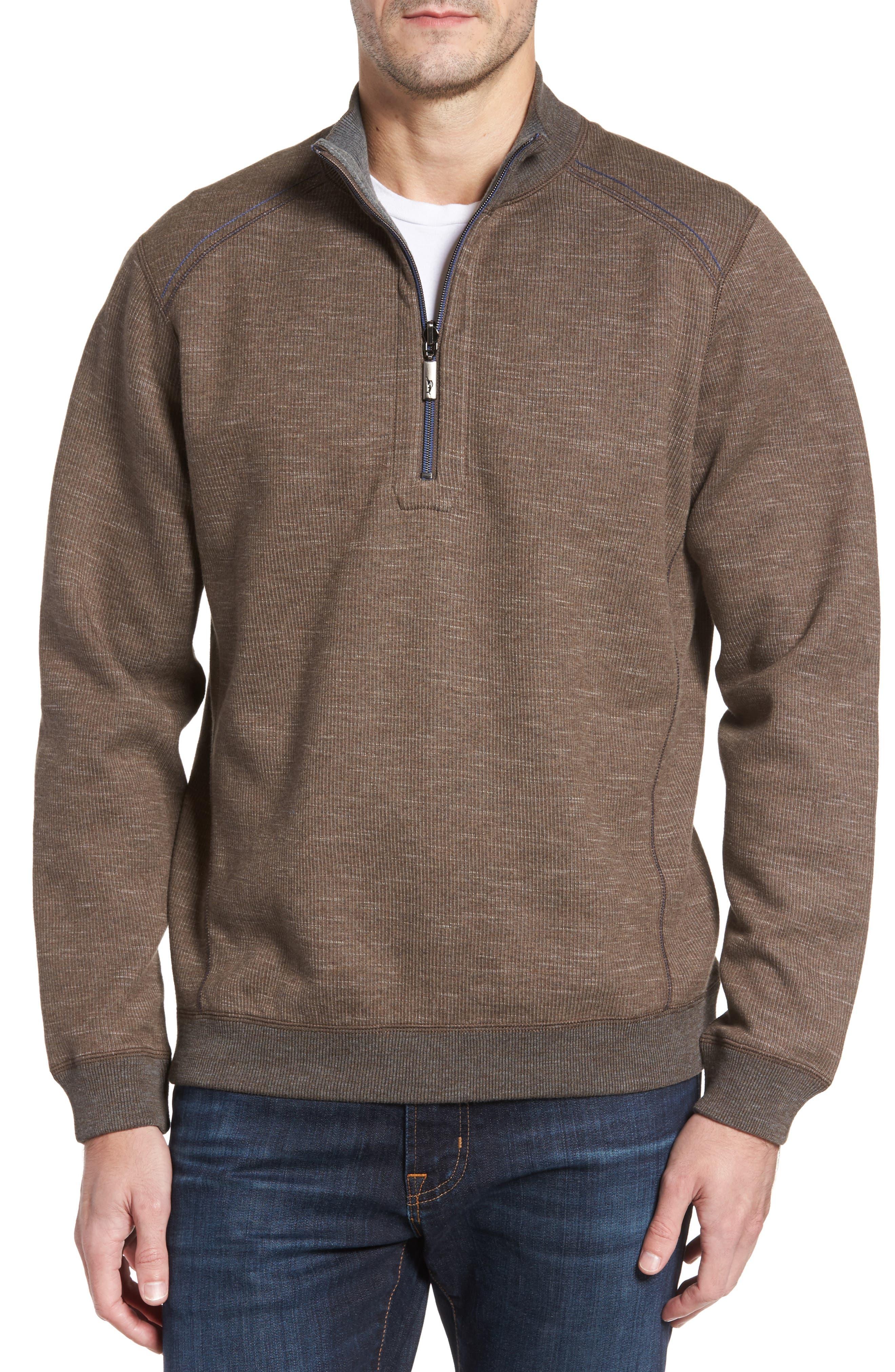 Tommy Bahama Flipsider Half Zip Reversible Sweatshirt (Big & Tall)