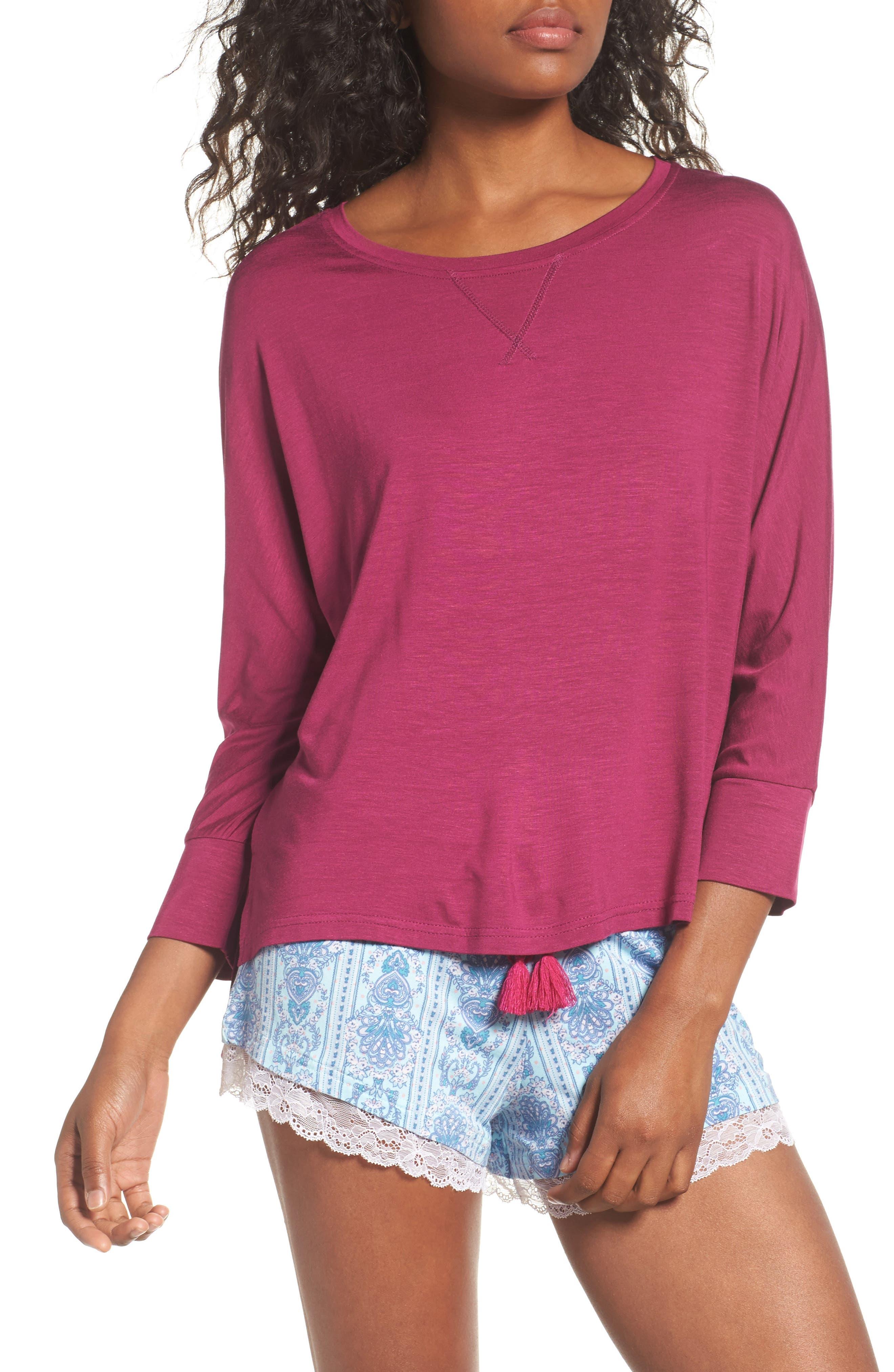 Honeydew Short Pajamas,                             Main thumbnail 1, color,                             Tuscany