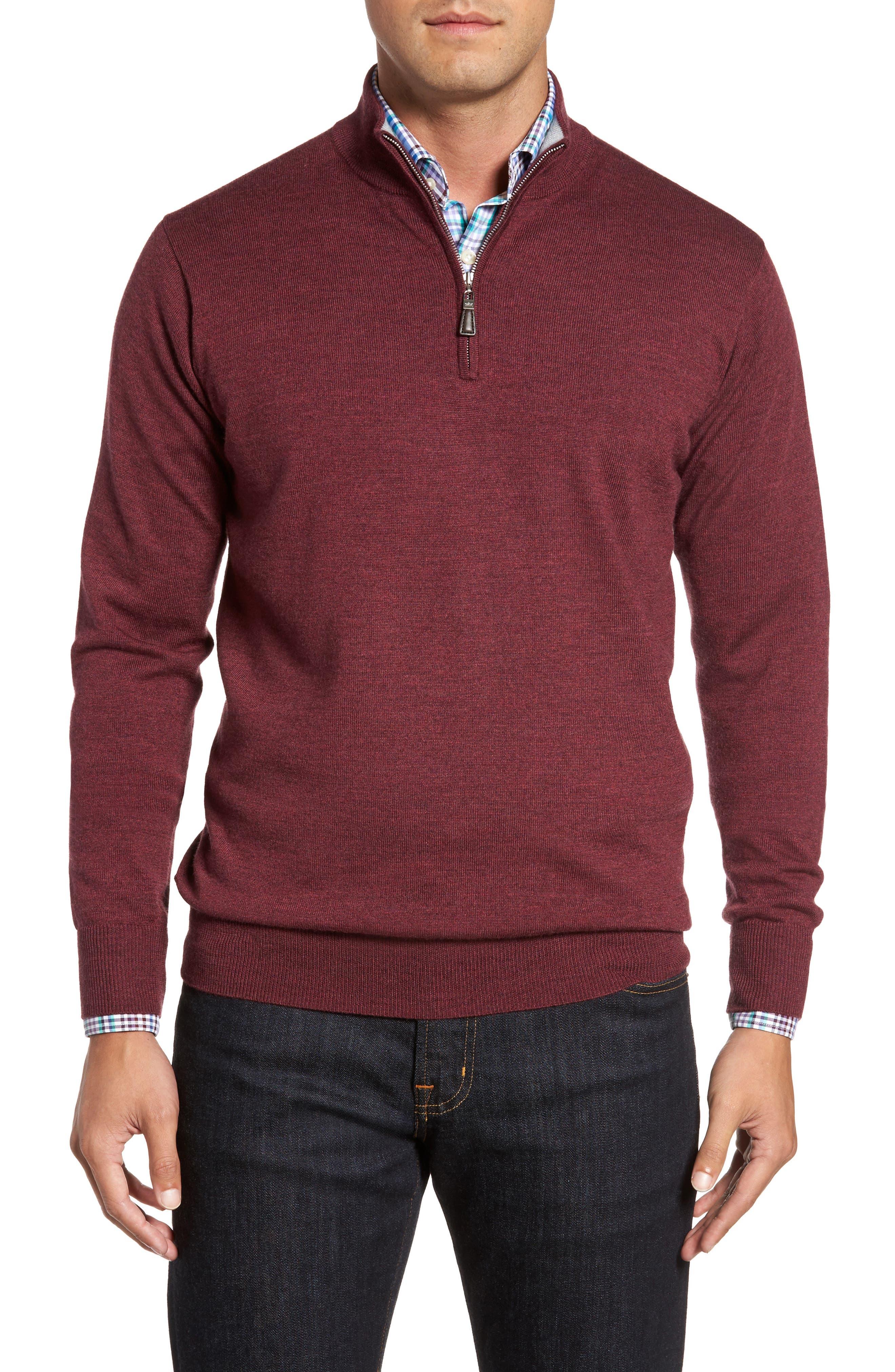 Main Image - Peter Millar Crown Soft Merino Blend Quarter Zip Sweater