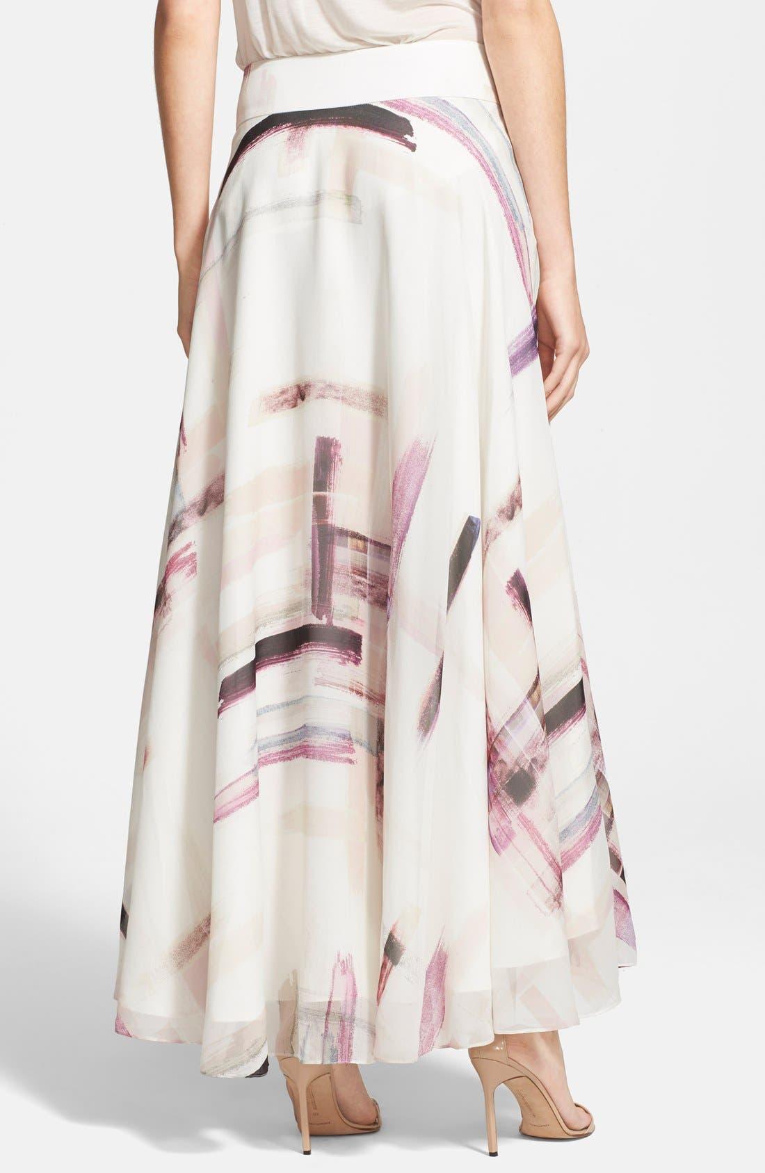 Alternate Image 2  - Haute Hippie Print Silk Maxi Skirt