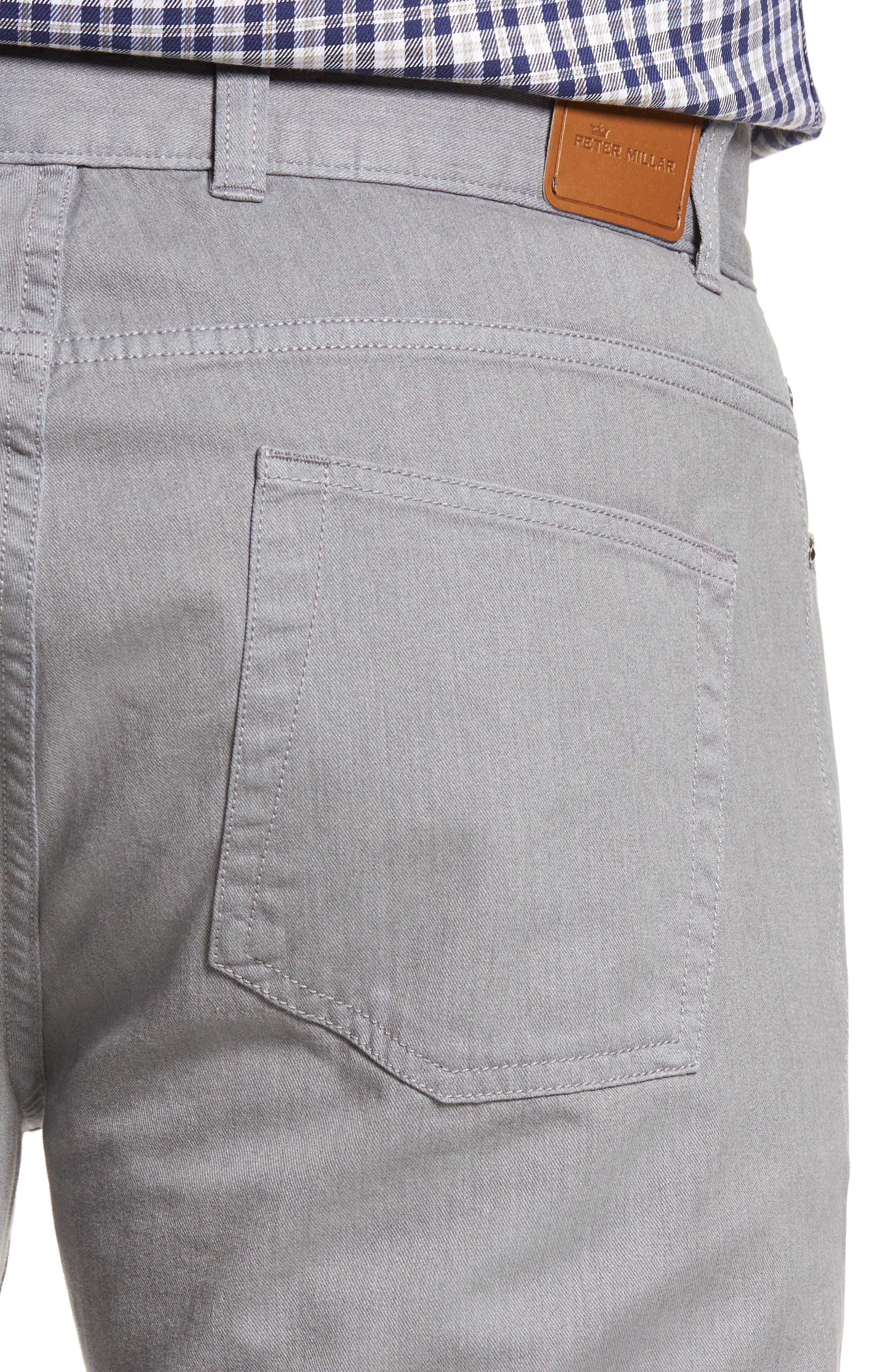 Mélange Five-Pocket Pants,                             Alternate thumbnail 4, color,                             Stingray
