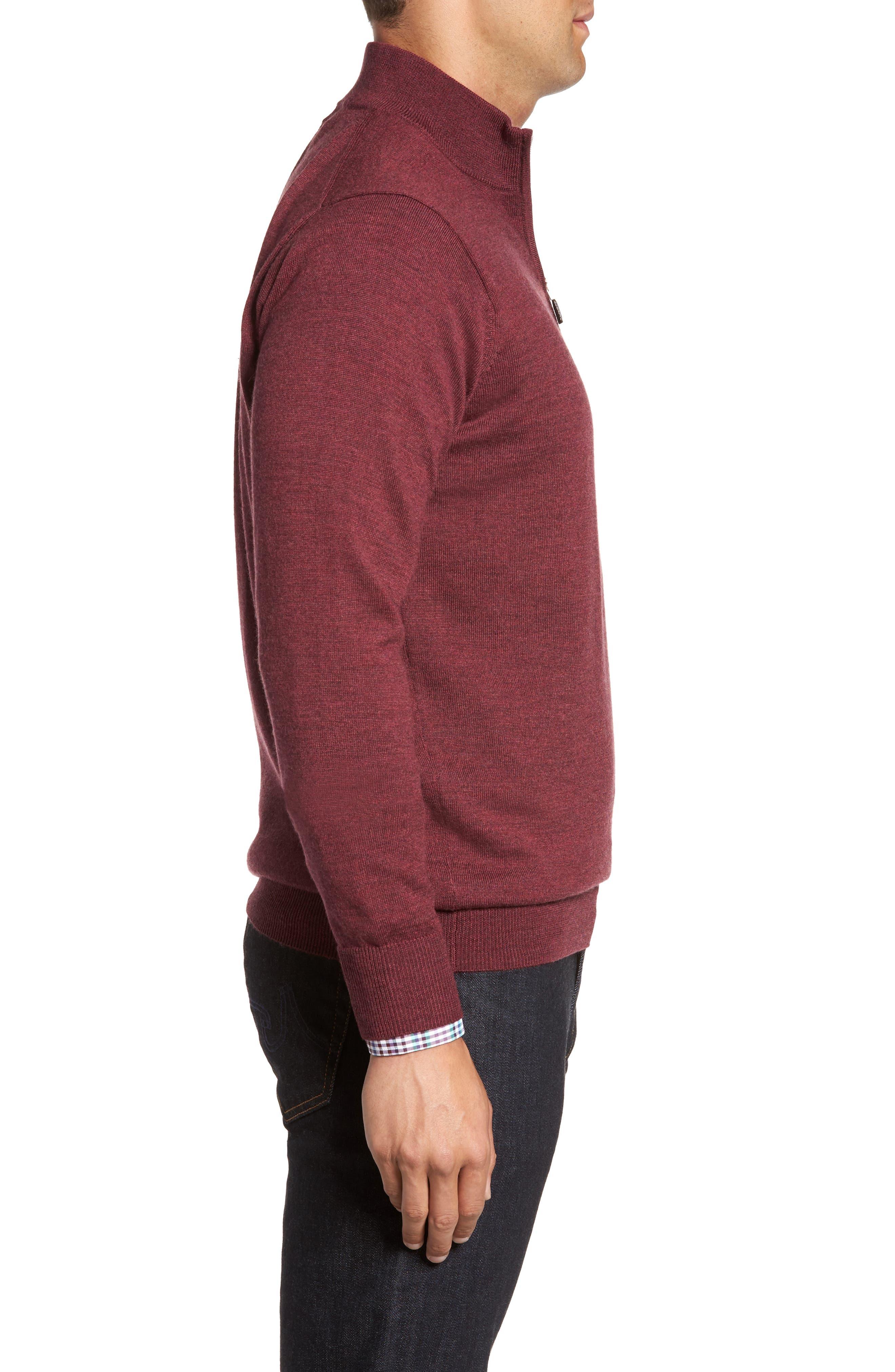 Alternate Image 3  - Peter Millar Crown Soft Merino Blend Quarter Zip Sweater