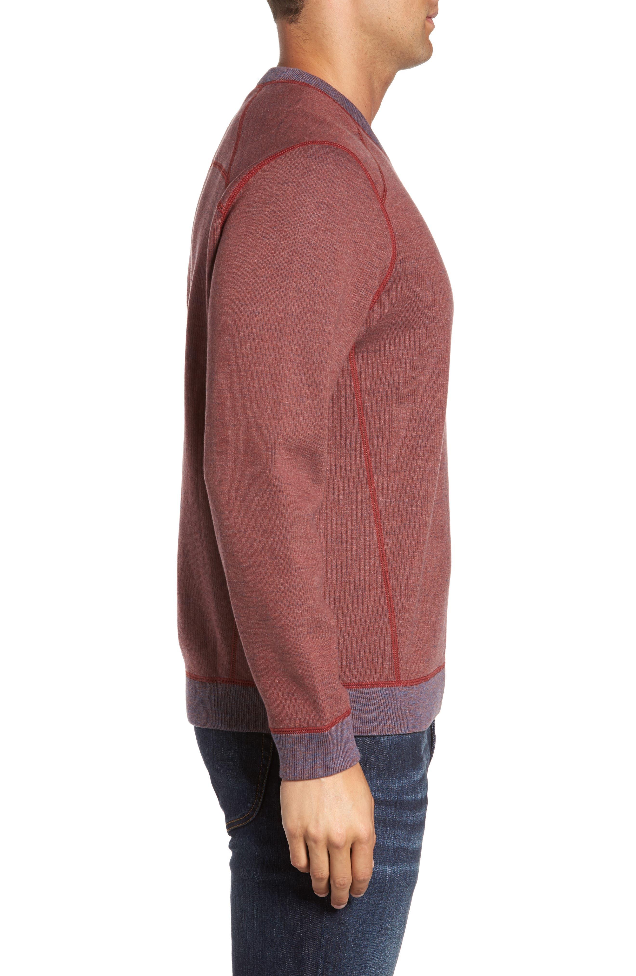Flipside Pro Reversible Sweatshirt,                             Alternate thumbnail 3, color,                             Pompeya Heather