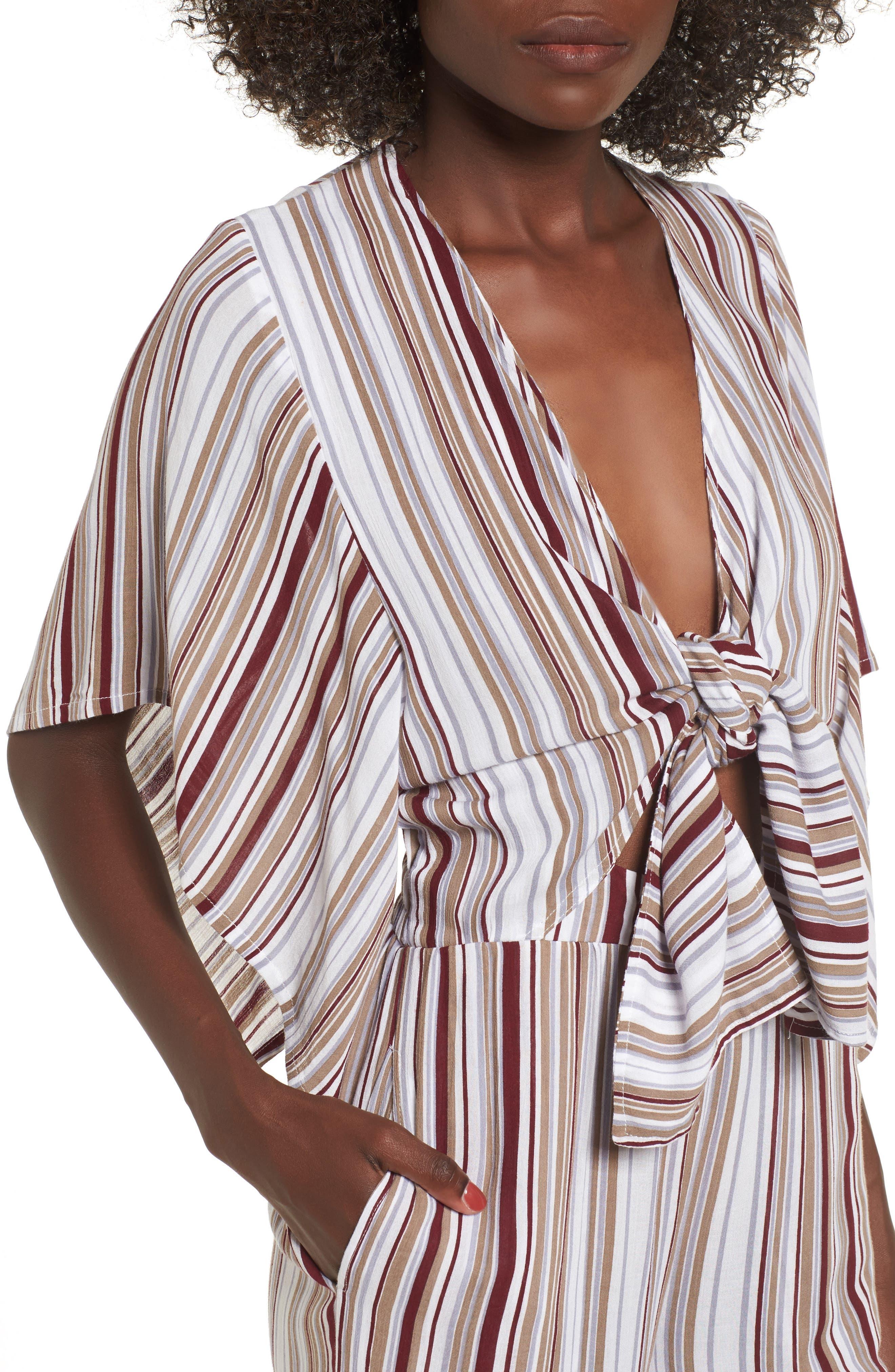 Alternate Image 4  - FAITHFULL THE BRAND Tilos Stripe Knotted Jumpsuit