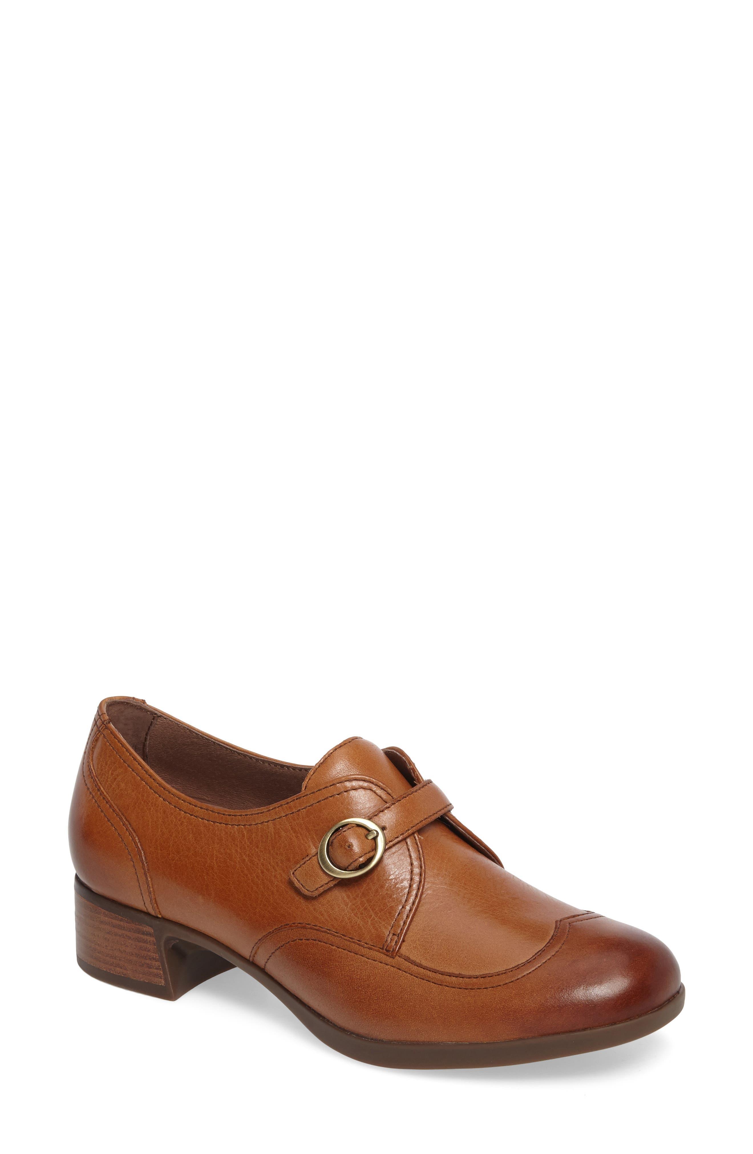 Livie Wingtip Oxford,                         Main,                         color, Saddle Burnished Nappa Leather
