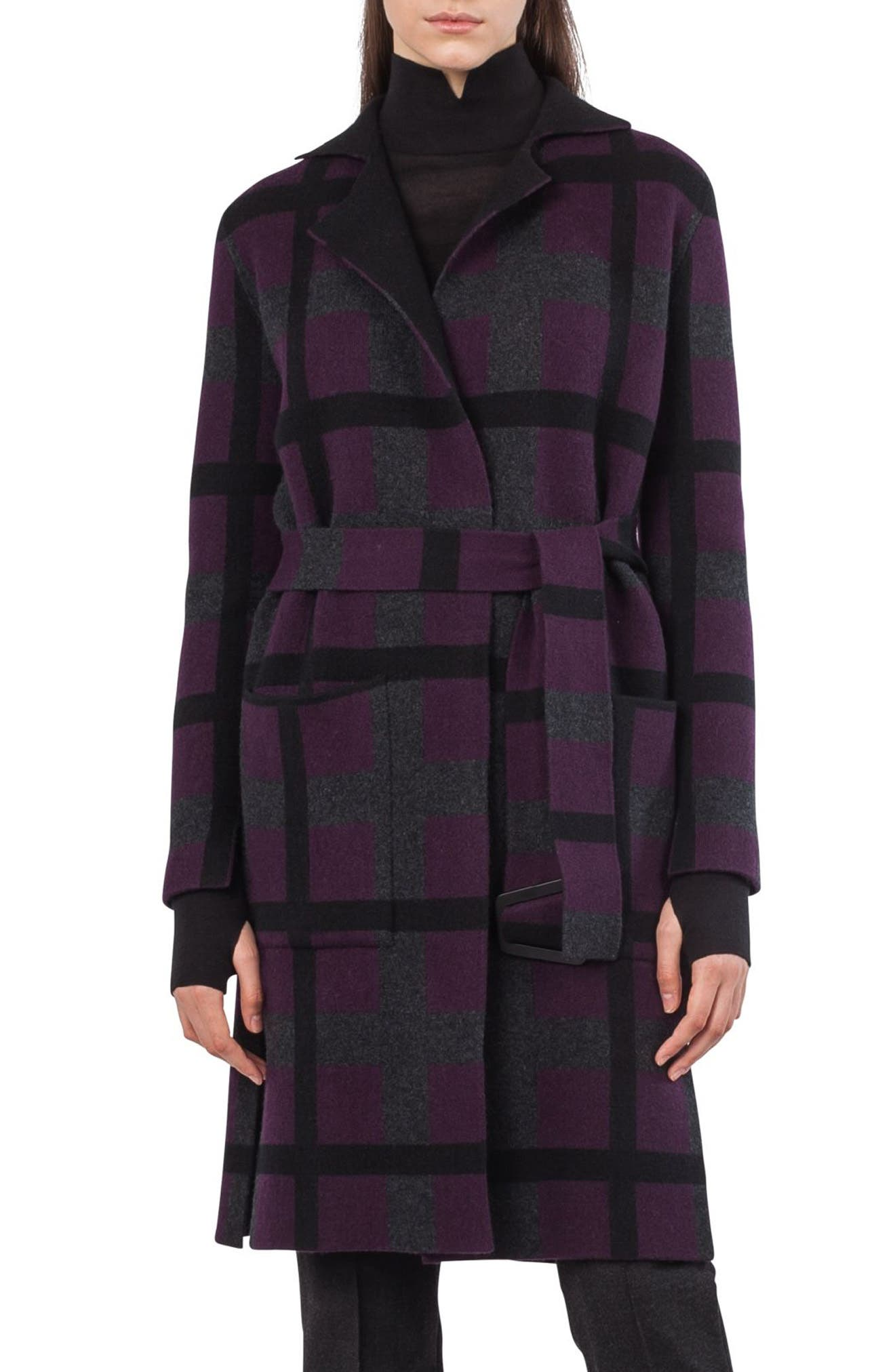 Akris Reversible Double Face Cashmere Coat