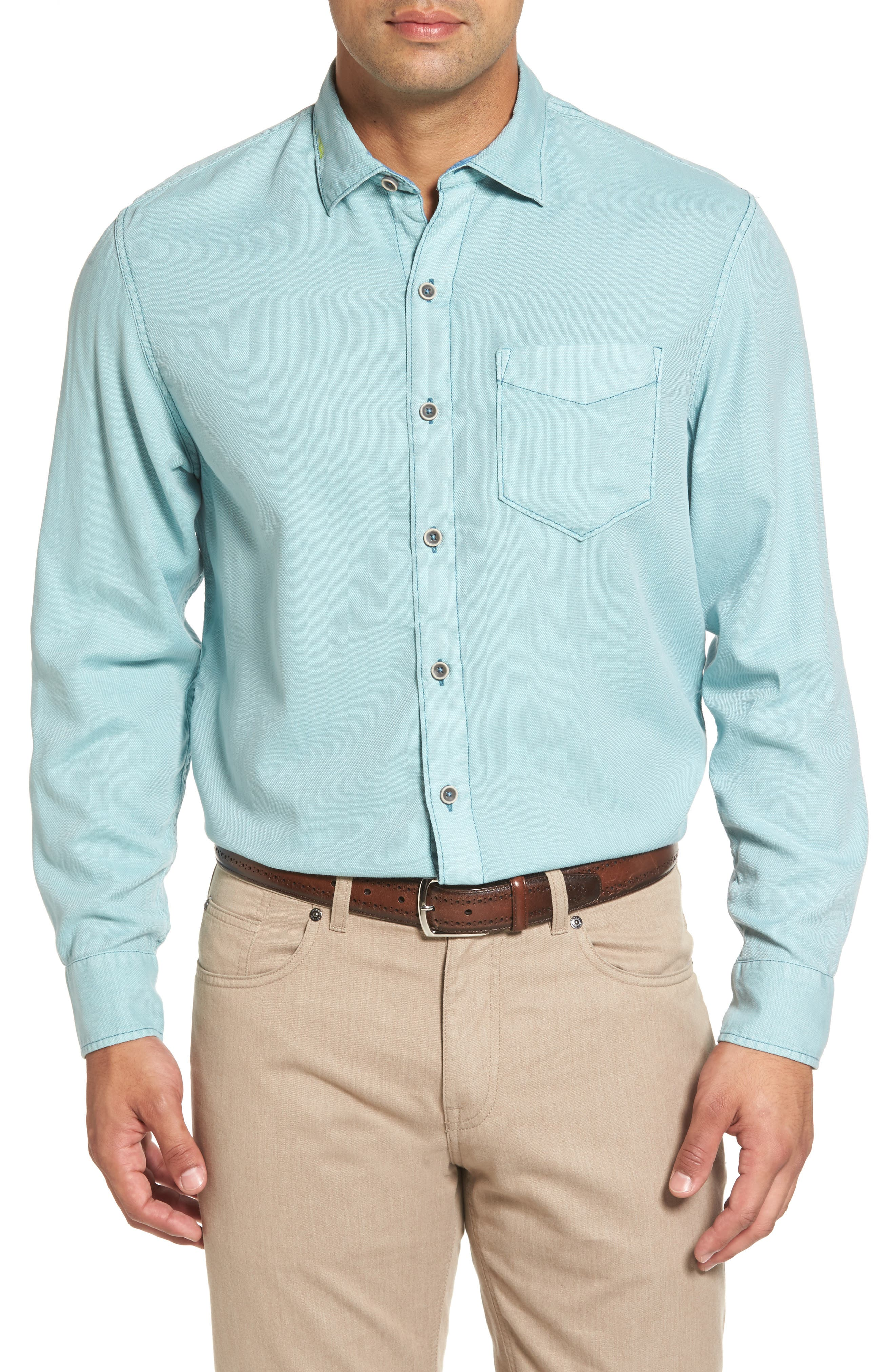 Tommy Bahama Dobby Dylan Sport Shirt (Big & Tall)