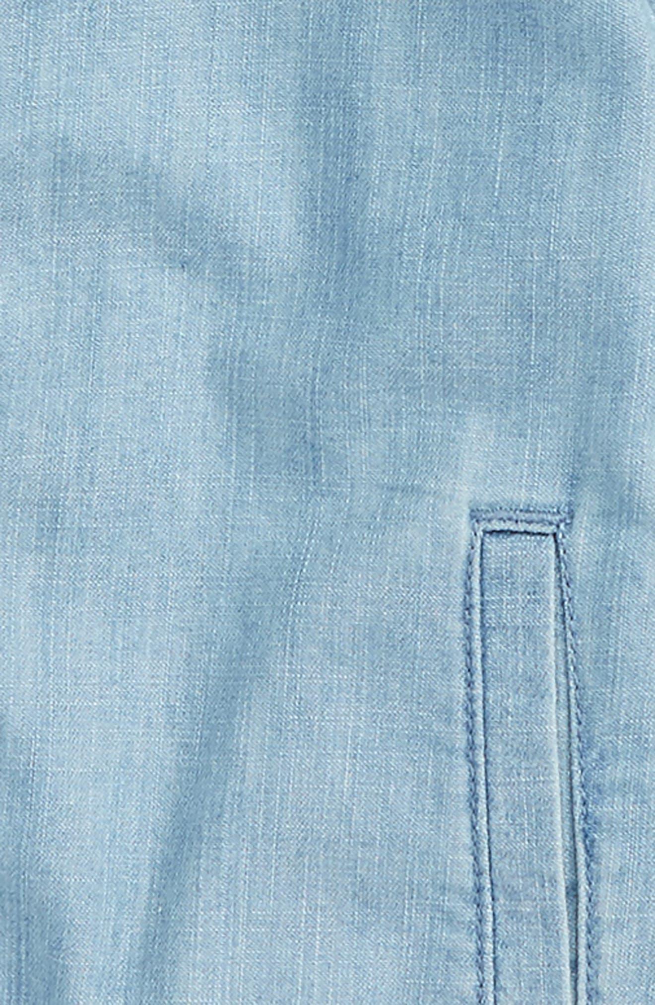 Denim Bomber Jacket,                             Alternate thumbnail 2, color,                             Bluebird Wash