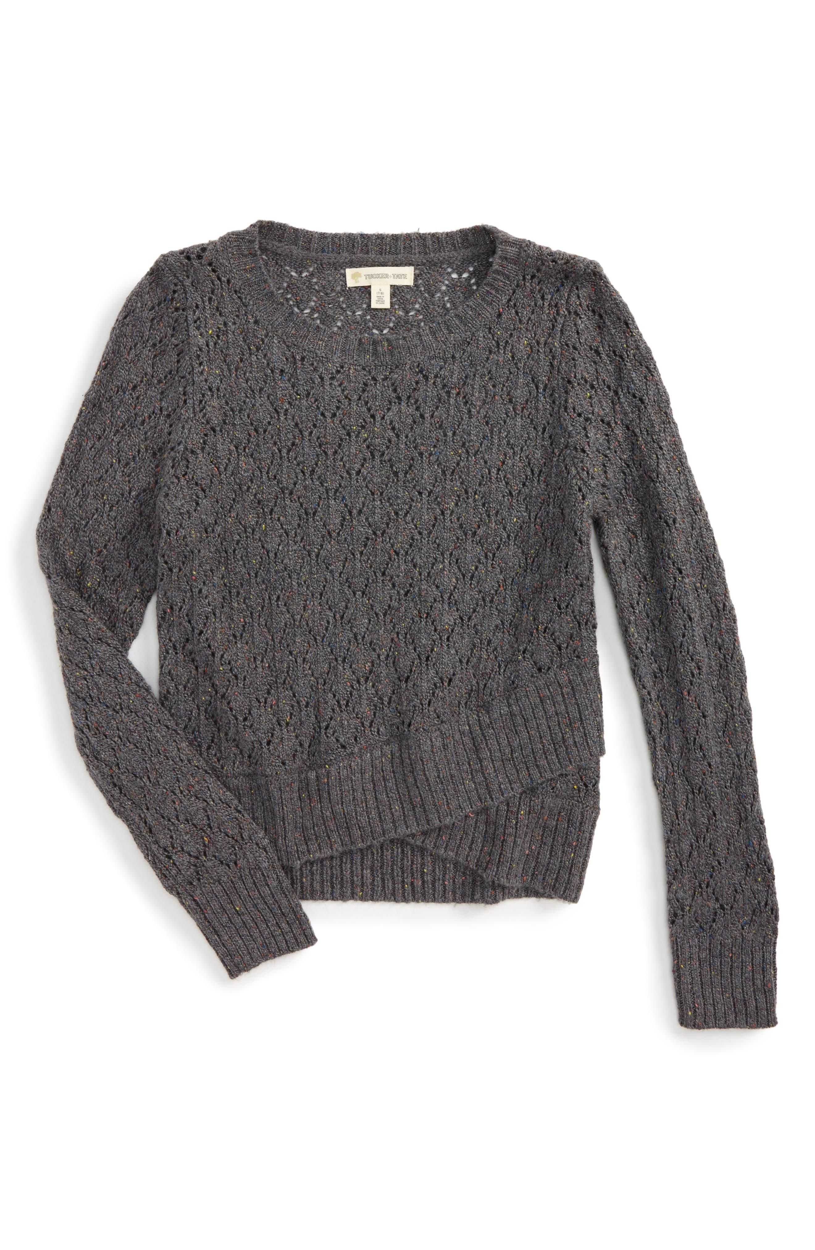 Tucker + Tate Cross Front Sweater (Big Girls)
