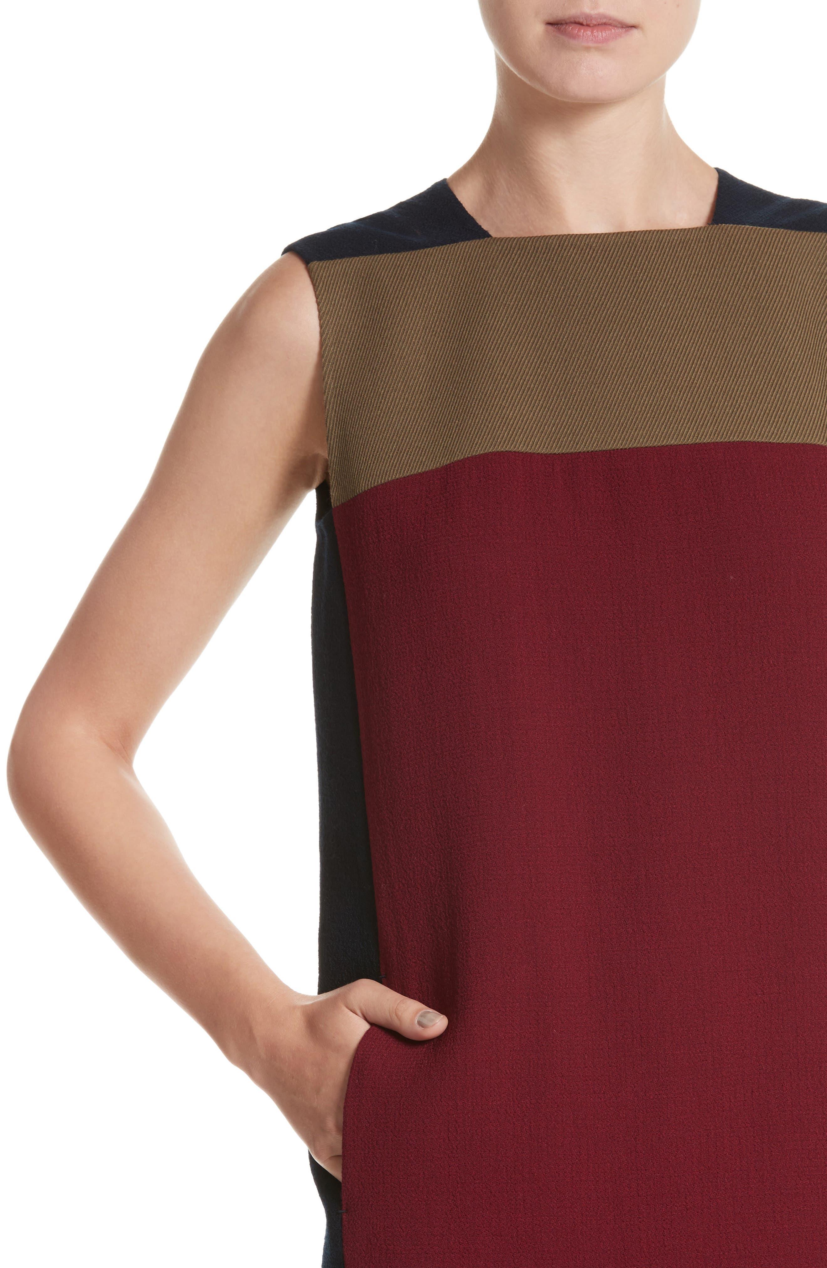 Alternate Image 4  - Lafayette 148 New York Zandra Colorblock Nouveau Crepe Dress