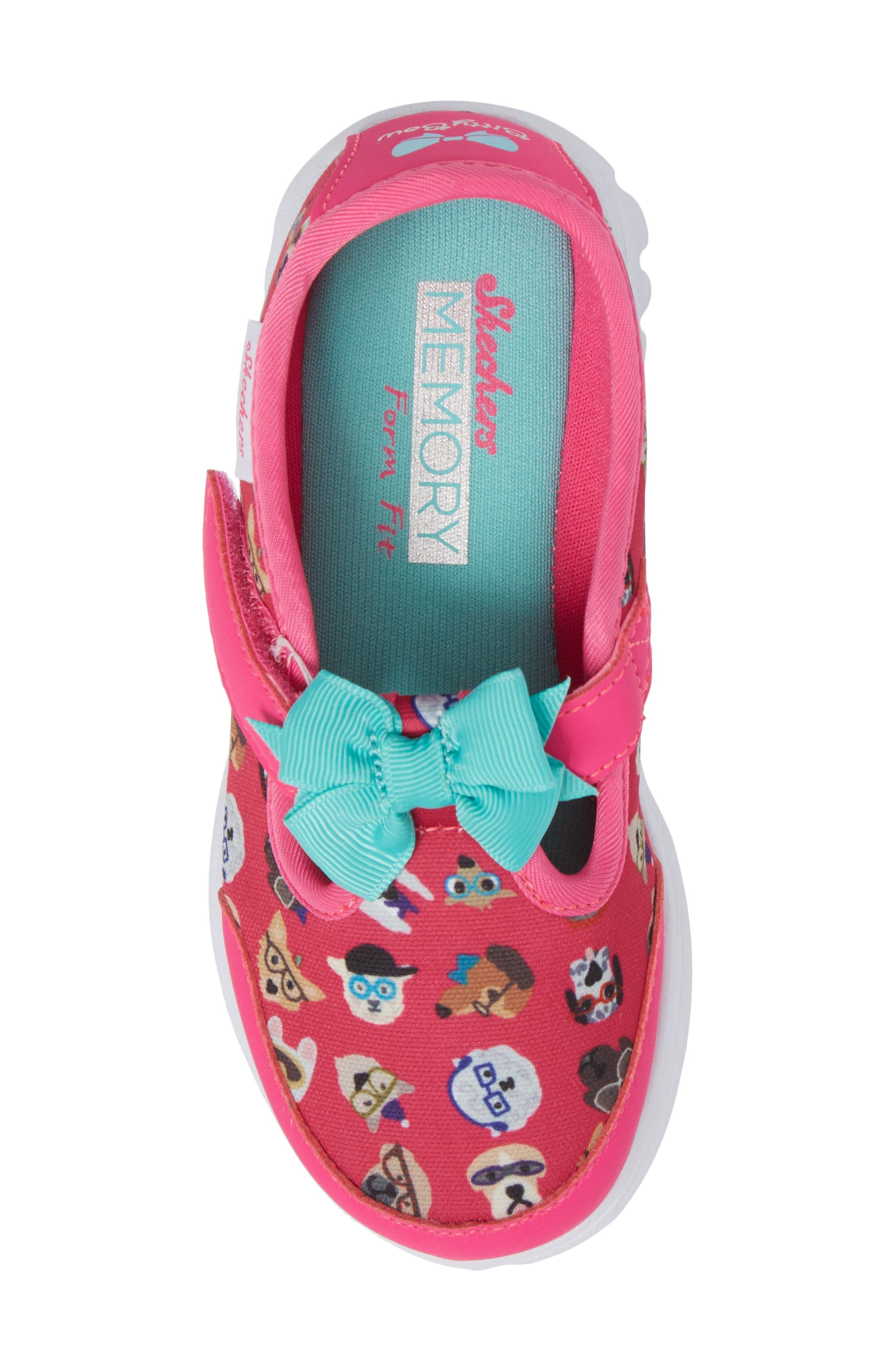 Alternate Image 5  - SKECHERS Go Walk Bow Wow Sneaker (Baby, Walker & Toddler)