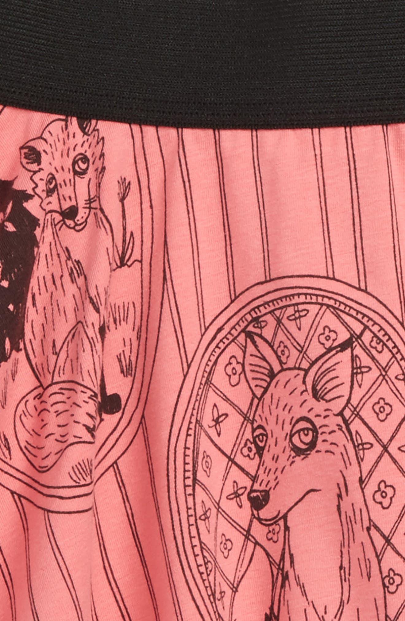 Fox Family Skirt,                             Alternate thumbnail 2, color,                             Pink