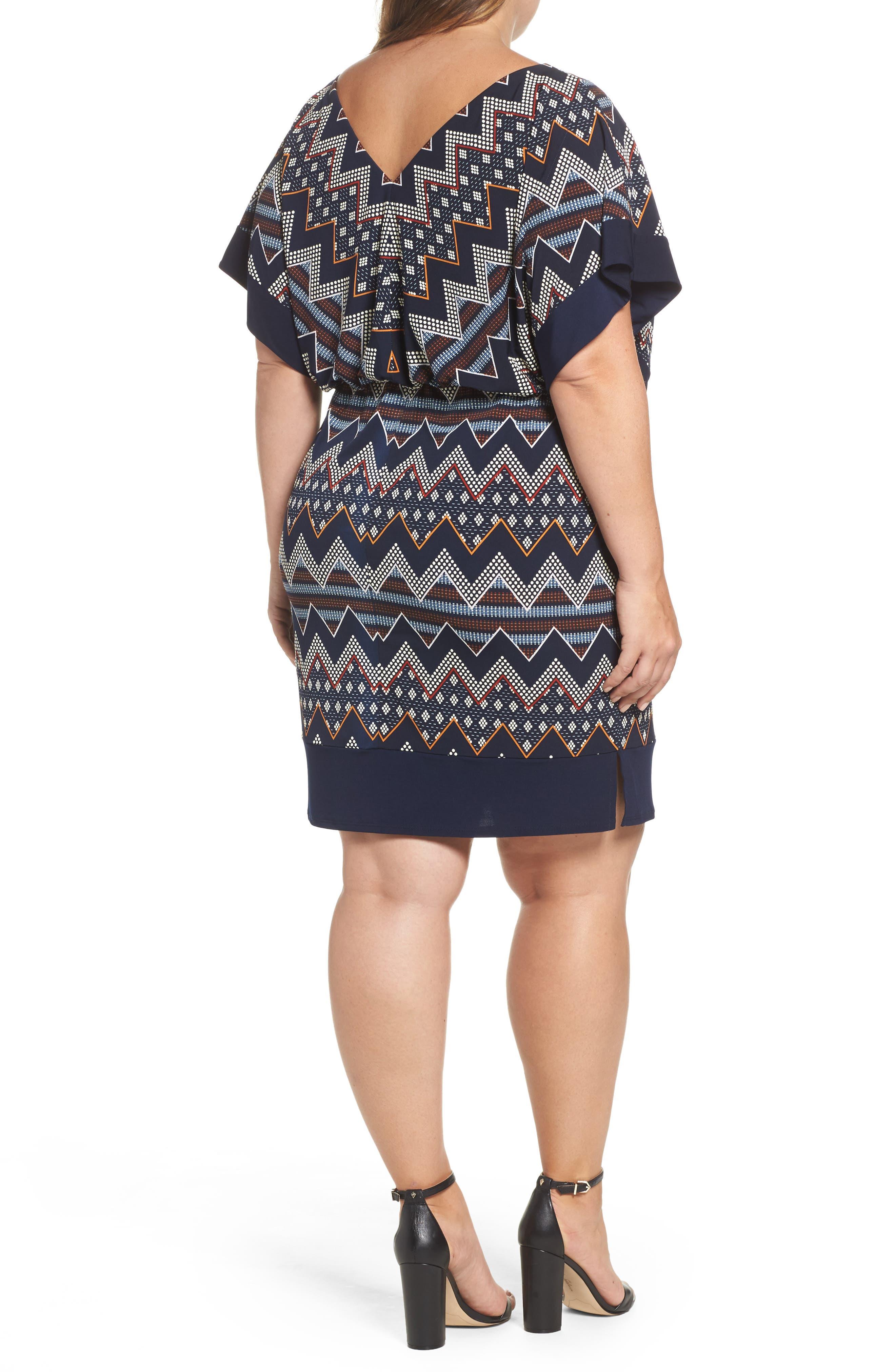 Puff Print Blouson Dress,                             Alternate thumbnail 2, color,                             Multi