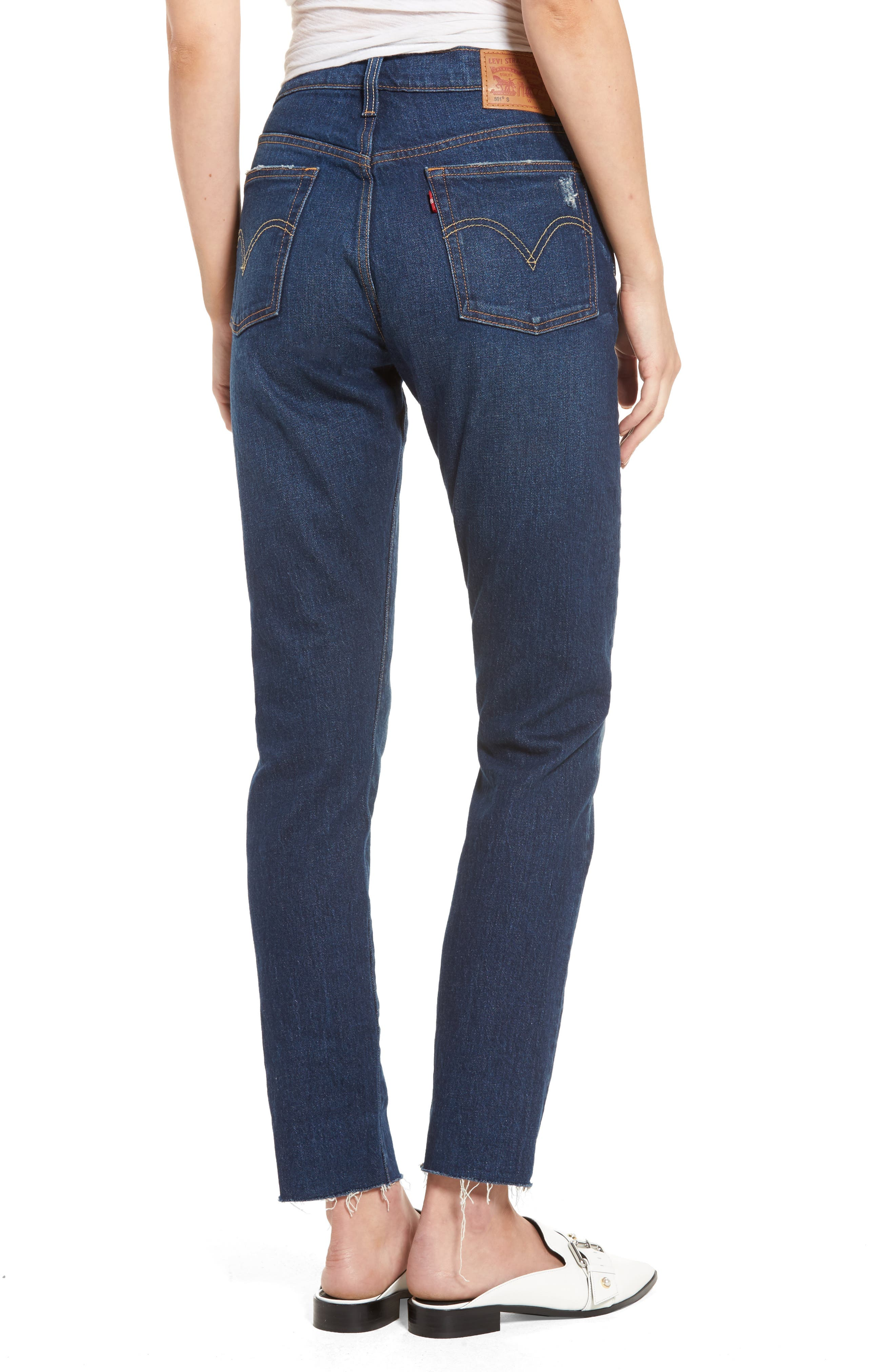 Levis<sup>®</sup> 501 Raw Hem Skinny Jeans,                             Alternate thumbnail 5, color,                             Song For Forever