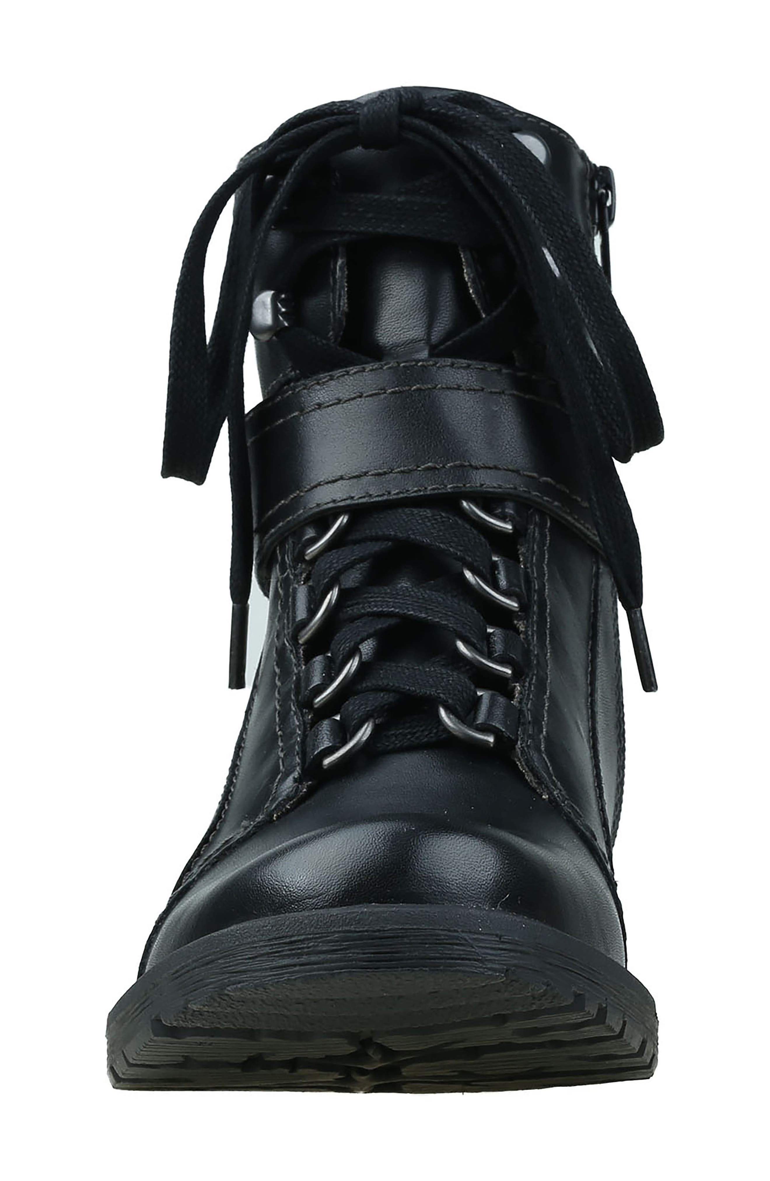 Everest Lace-Up Boot,                             Alternate thumbnail 4, color,                             Black Leather
