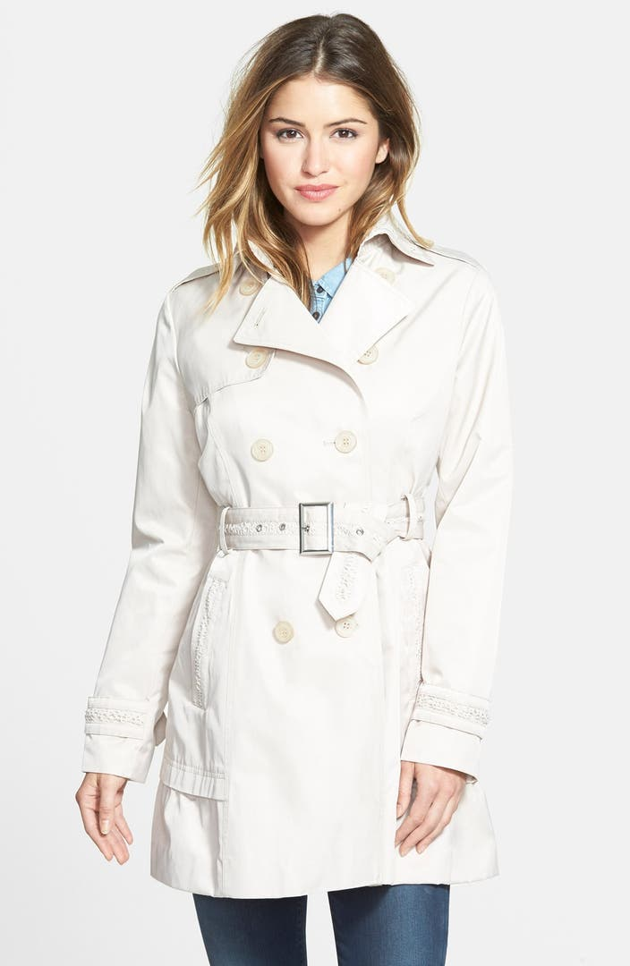 Jessica Simpson Skirted Double Breasted Trench Coat