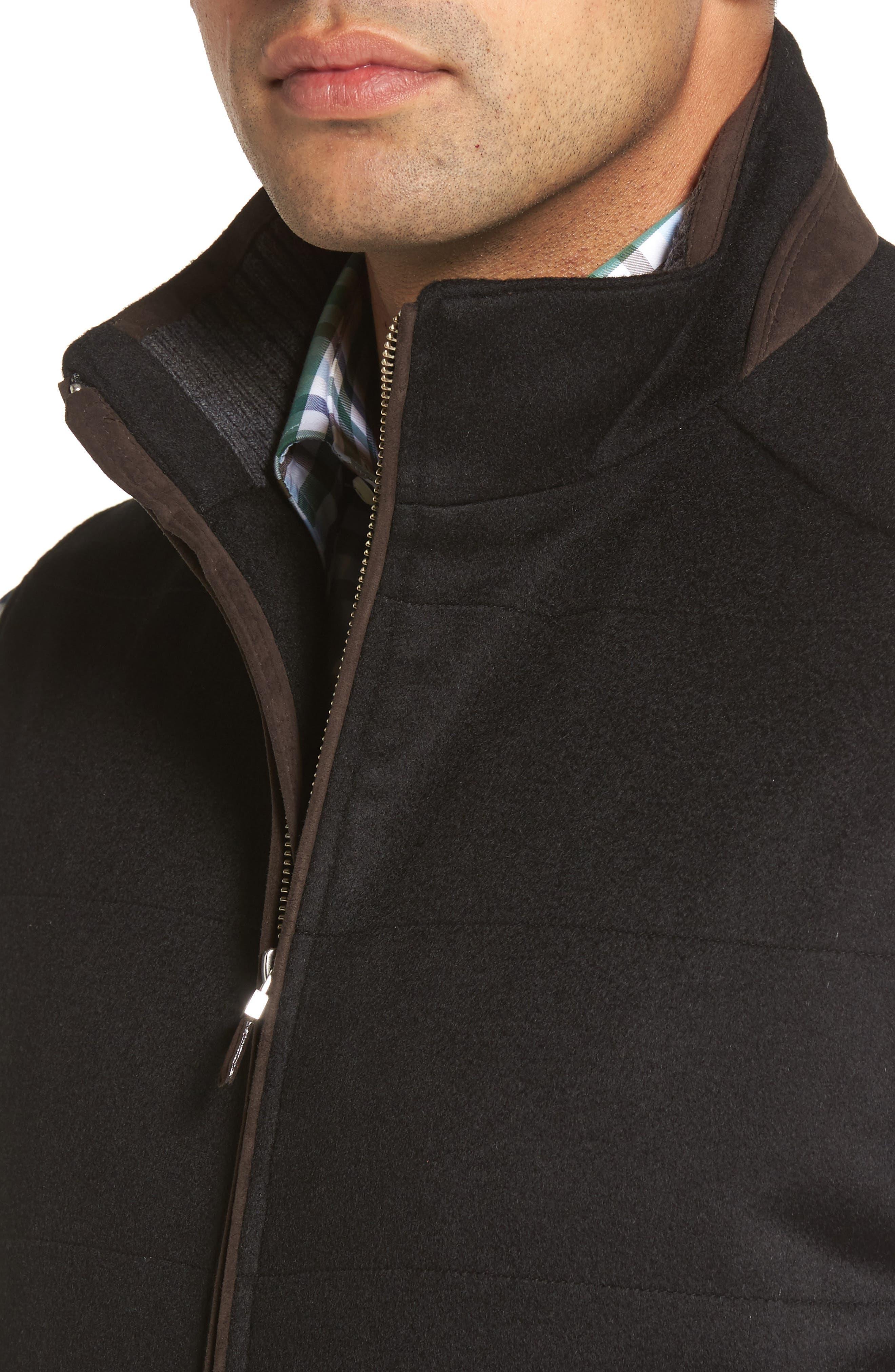 Crown Darien Wool & Cashmere Vest,                             Alternate thumbnail 4, color,                             Black