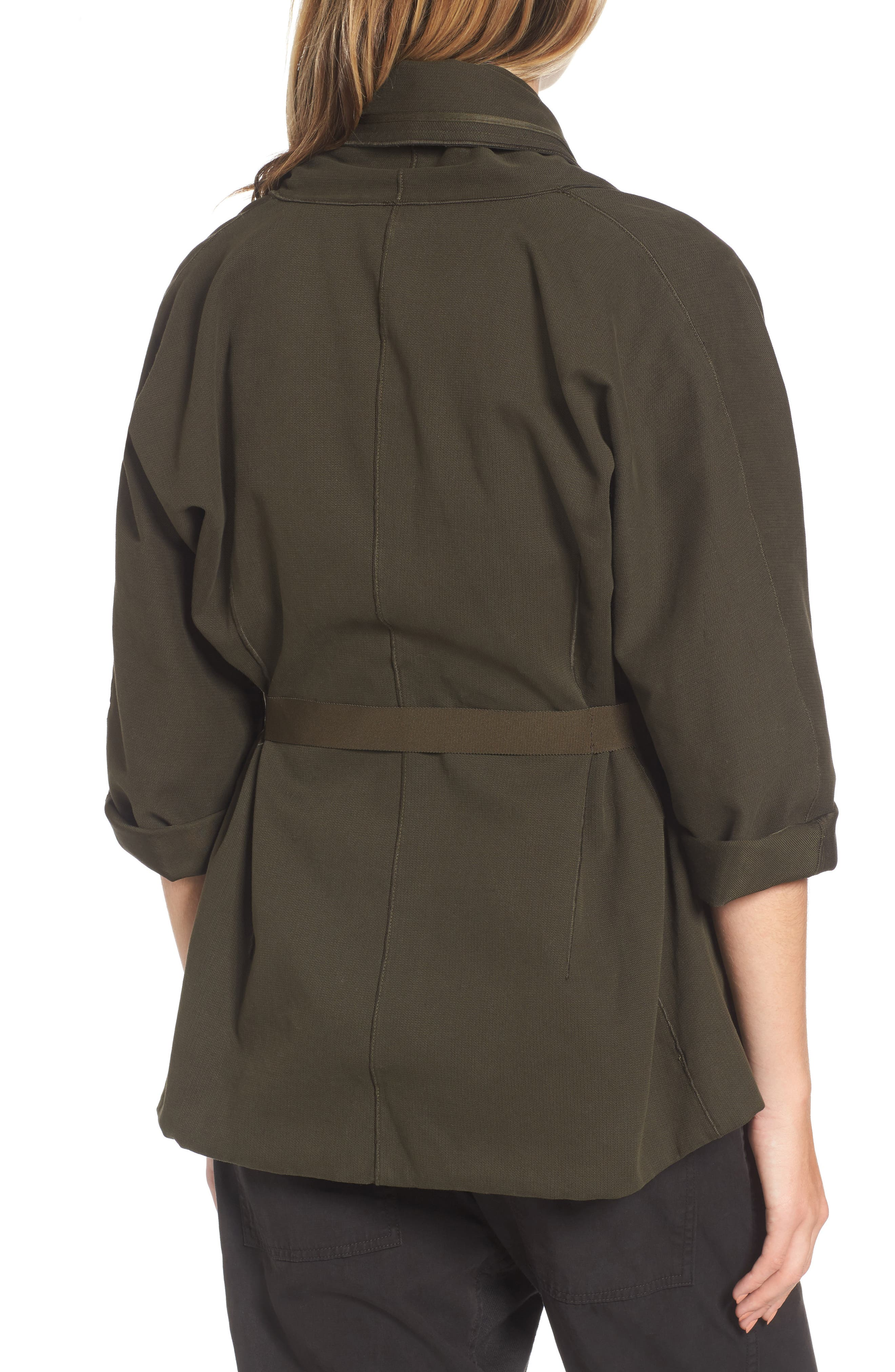 Blanket Kimono Jacket,                             Alternate thumbnail 2, color,                             Smoky Green