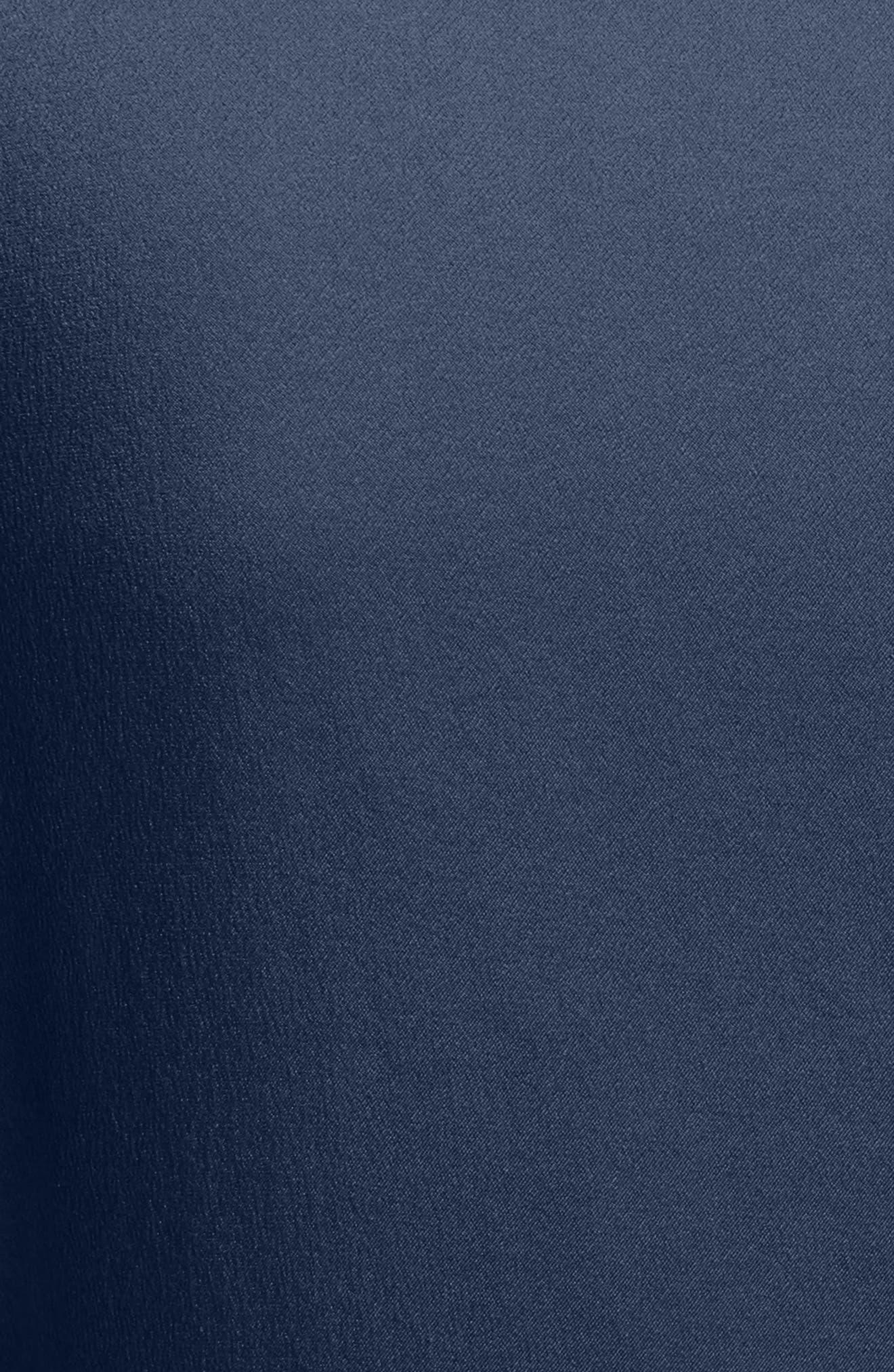 Alternate Image 5  - Burberry Cathy Tie Neck Silk Dress