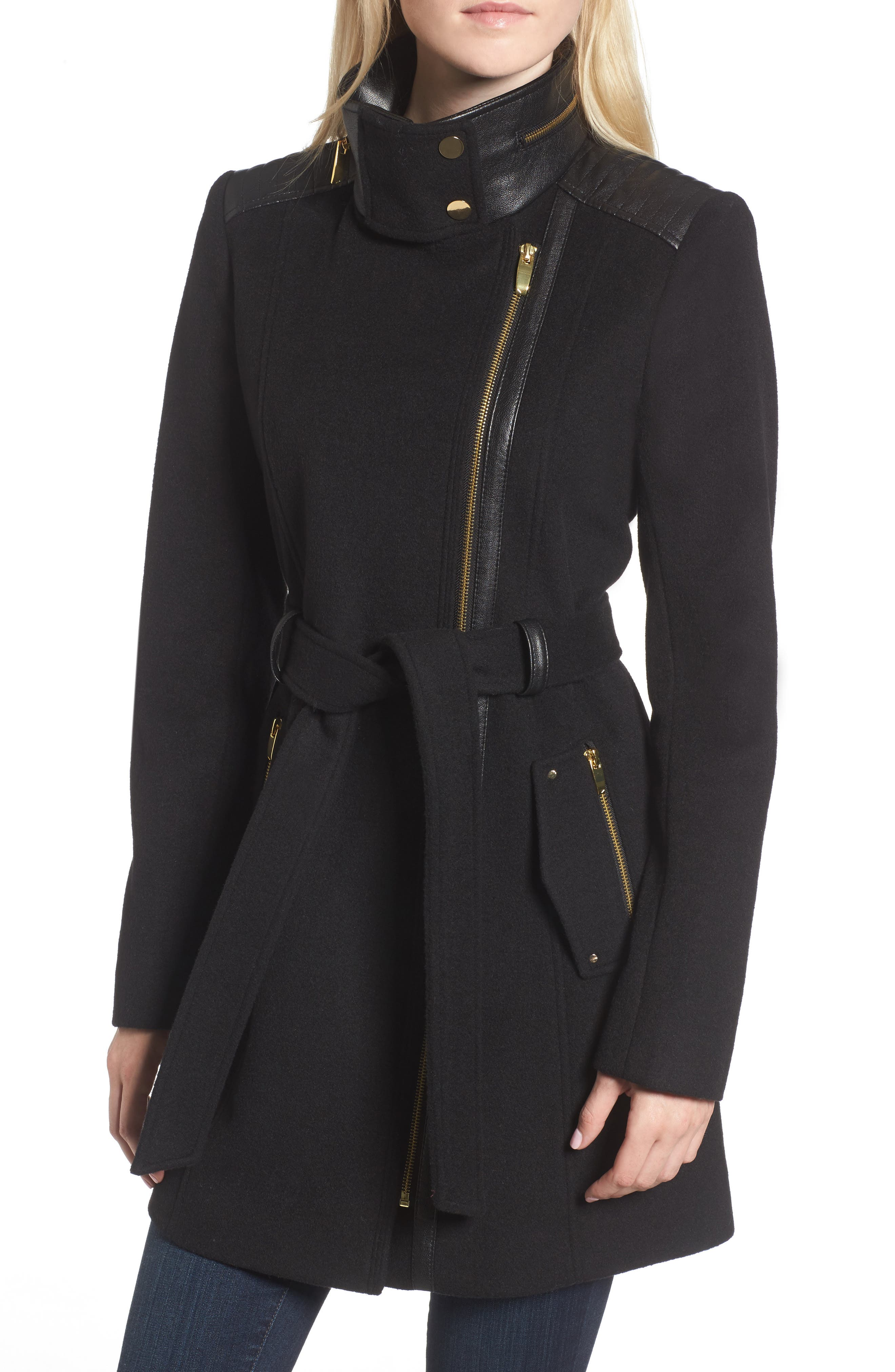 Alternate Image 4  - Via Spiga Wool Blend Coat