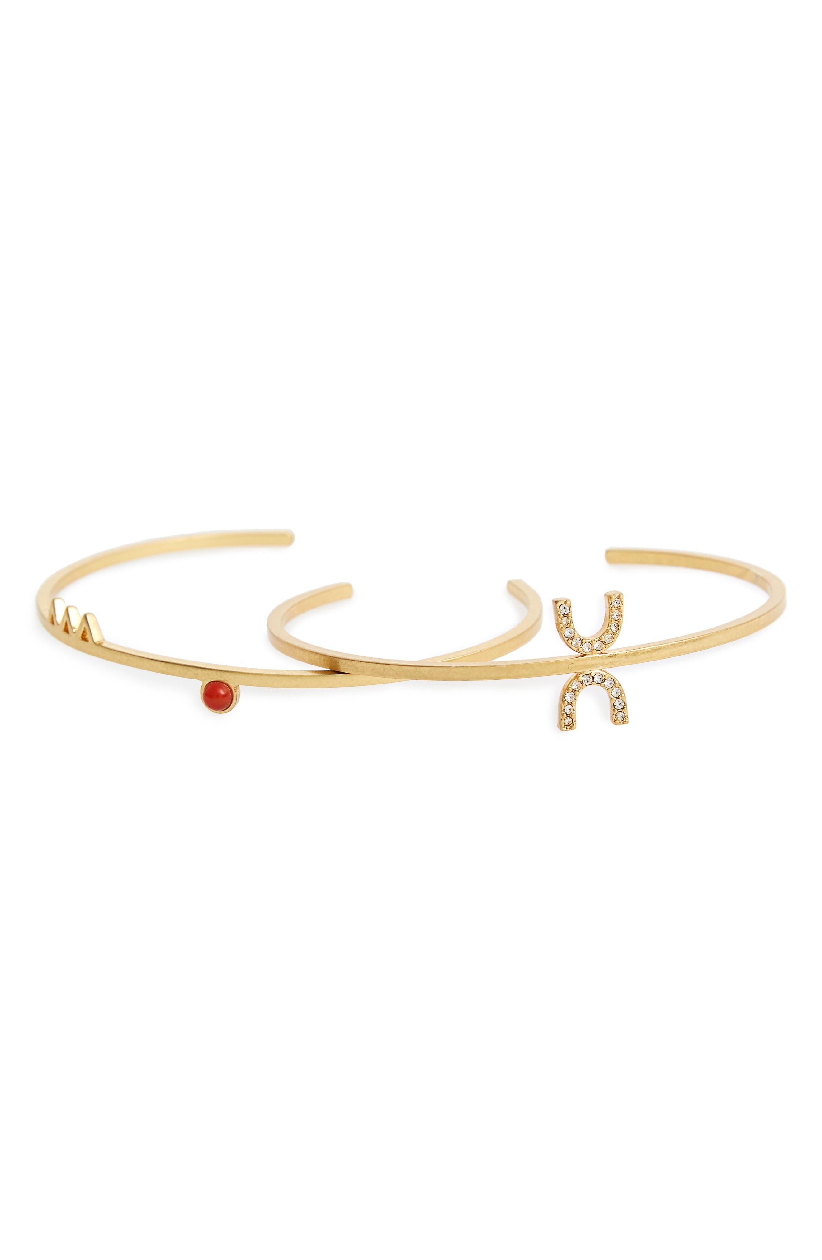 MADEWELL Tiny Jewels Set of 2 Cuffs