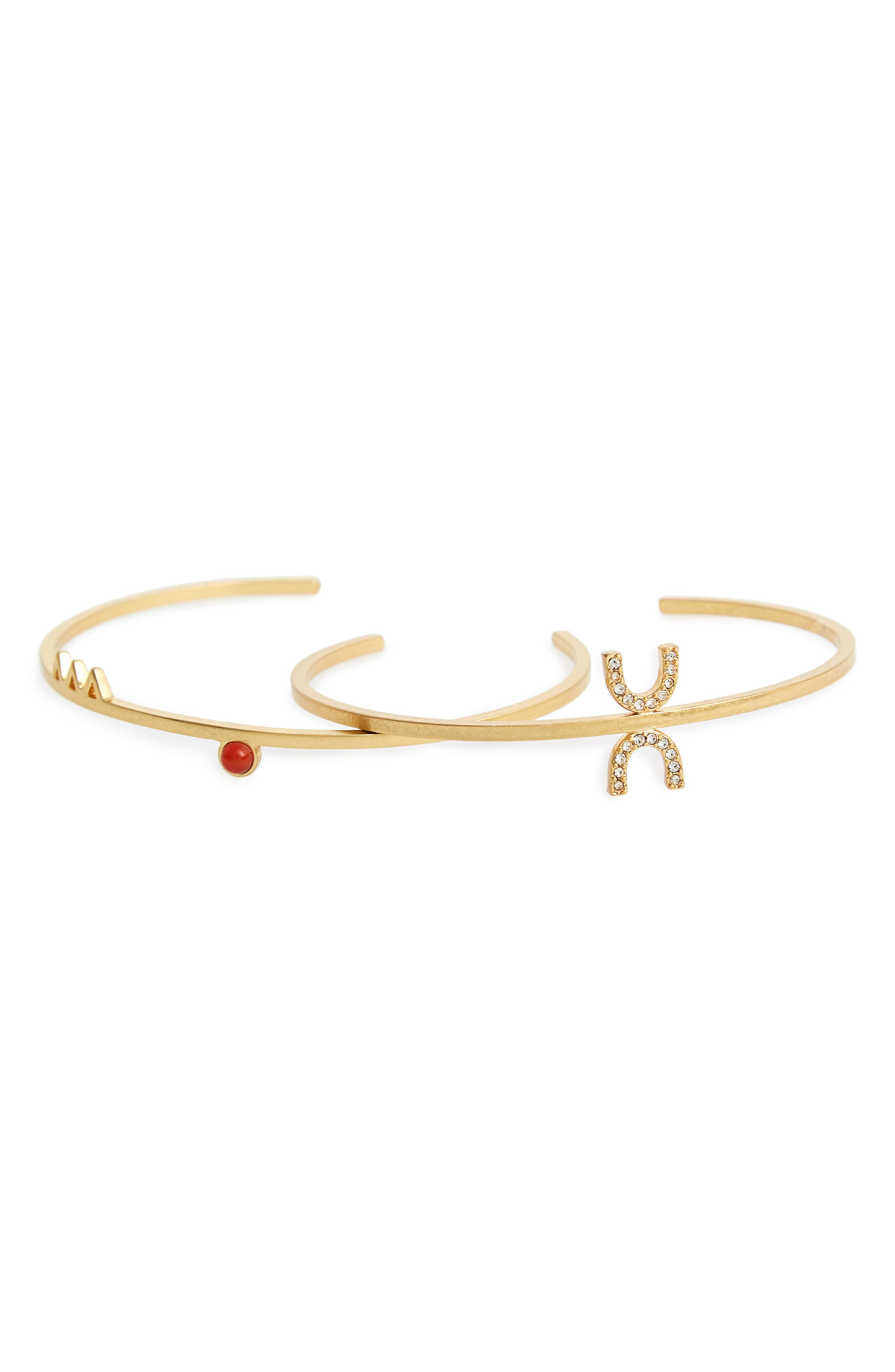 Main Image - Madewell Tiny Jewels Set of 2 Cuffs