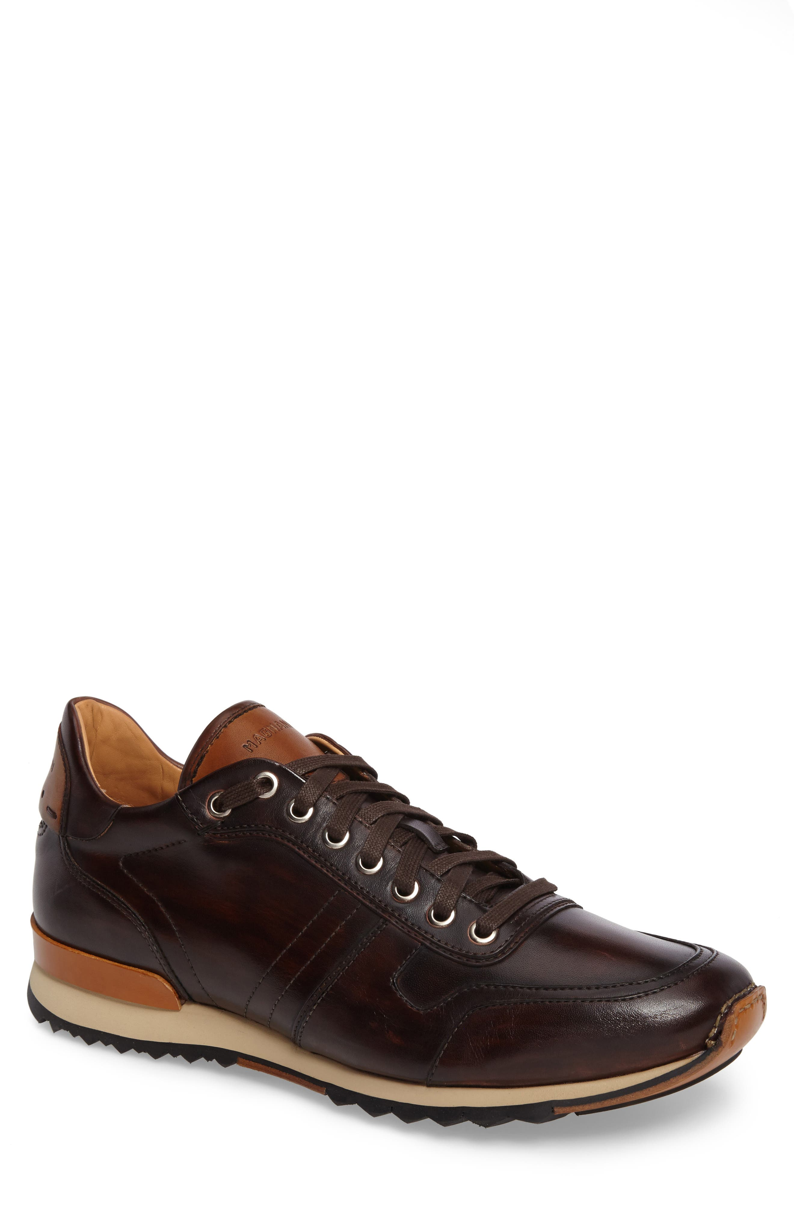 Galio Sneaker,                         Main,                         color, Brown Leather