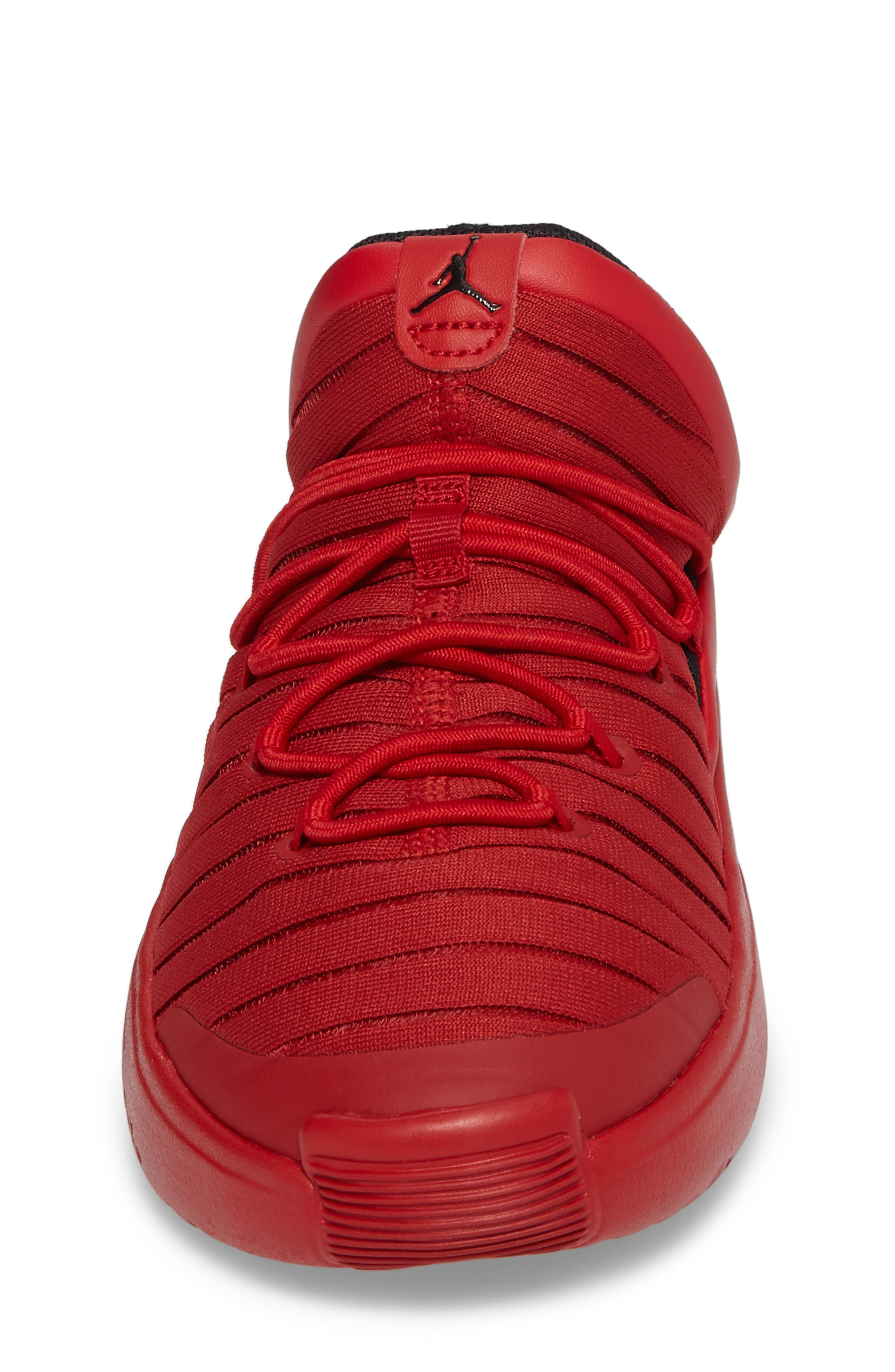 Flight Luxe Sneaker,                             Alternate thumbnail 4, color,                             Gym Red/ Black