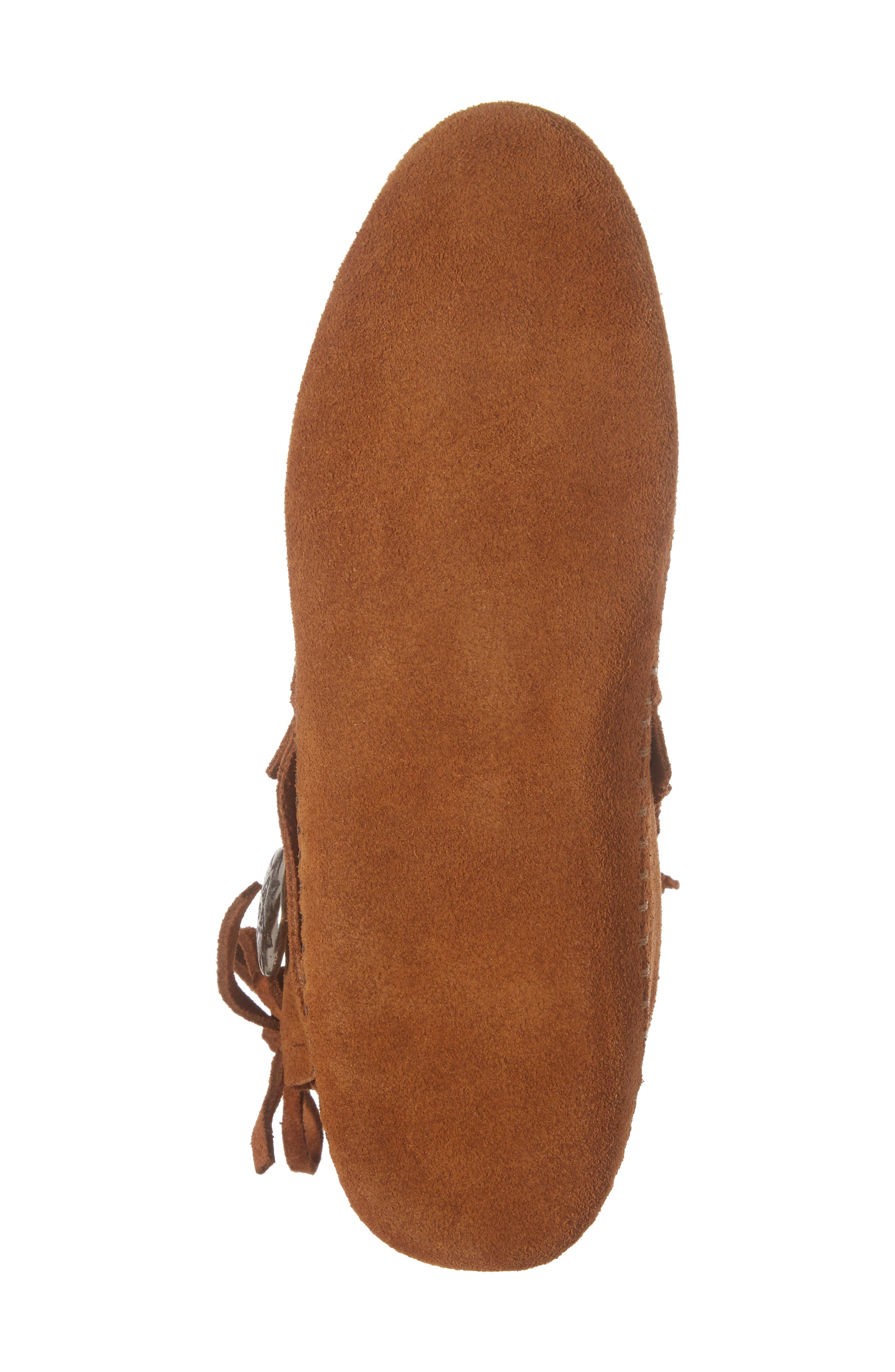 Two-Button Softsole Bootie,                             Alternate thumbnail 6, color,                             Brown