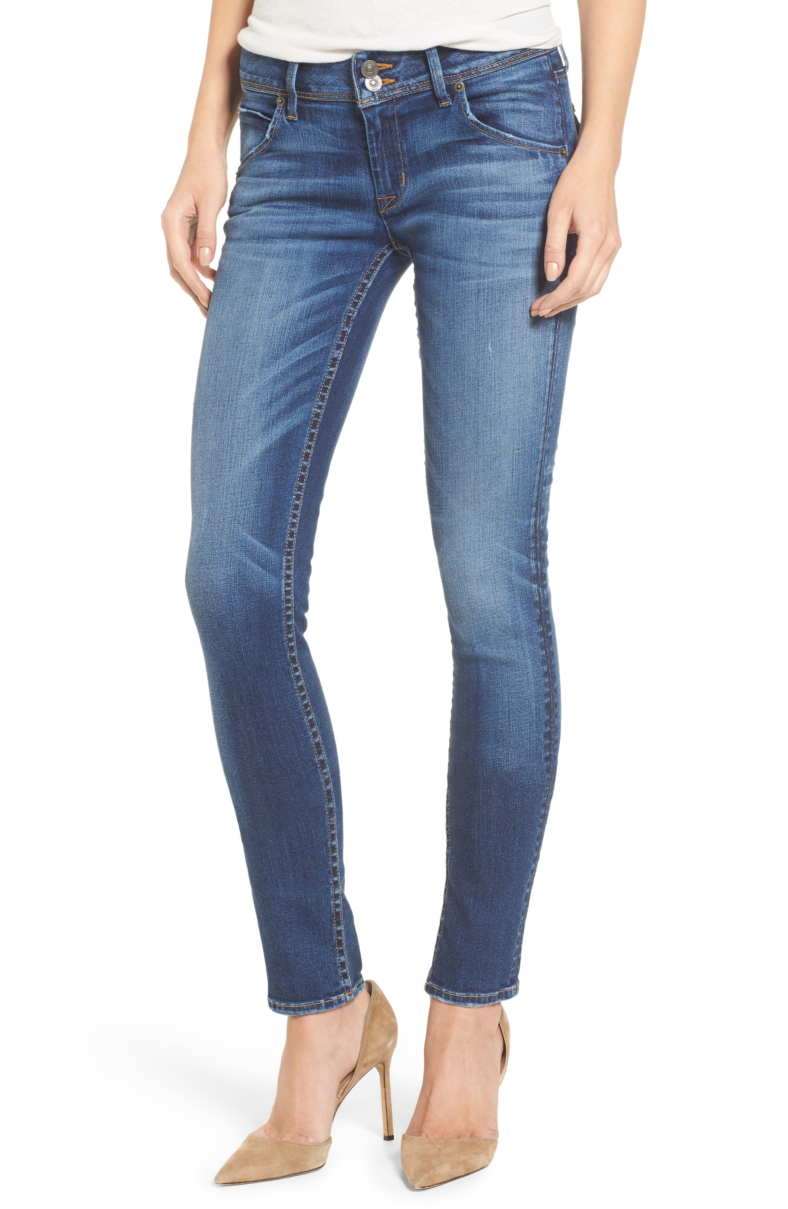Hudson Collin Skinny Jeans,                             Main thumbnail 1, color,                             Contender