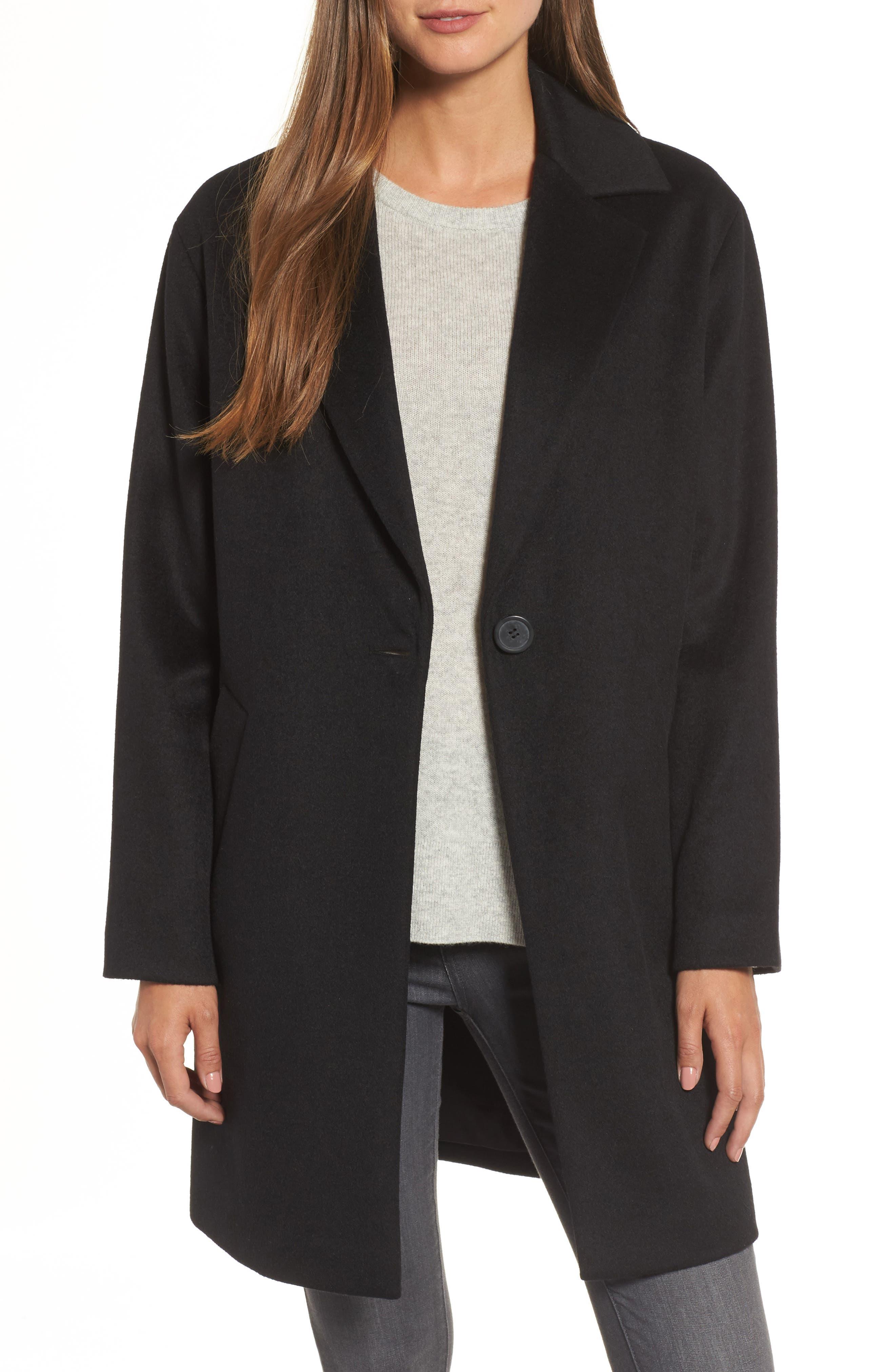 Halogen® Wool Blend Coat (Regular & Petite)