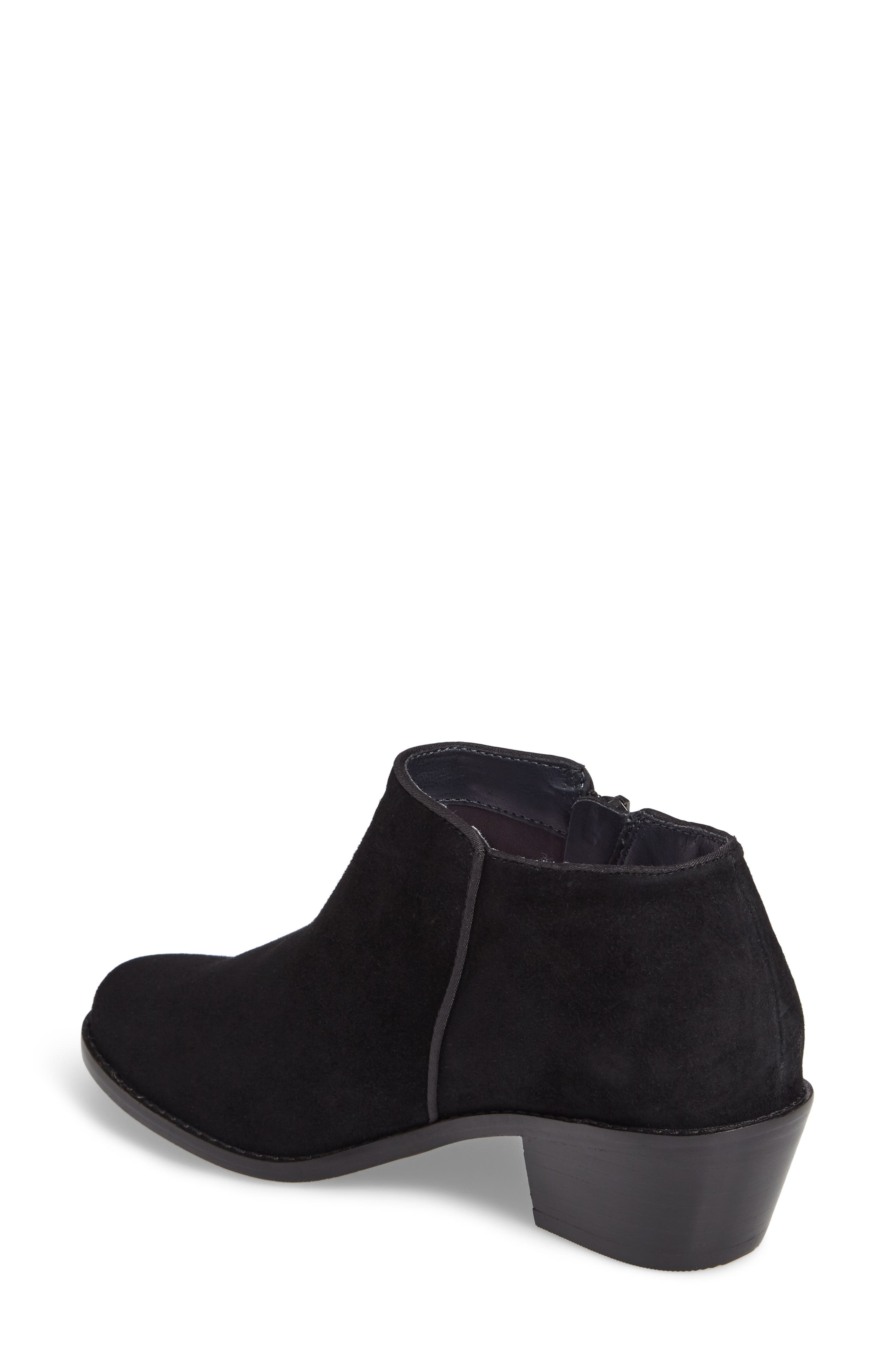 Serena Ankle Boot,                             Alternate thumbnail 2, color,                             Black Suede