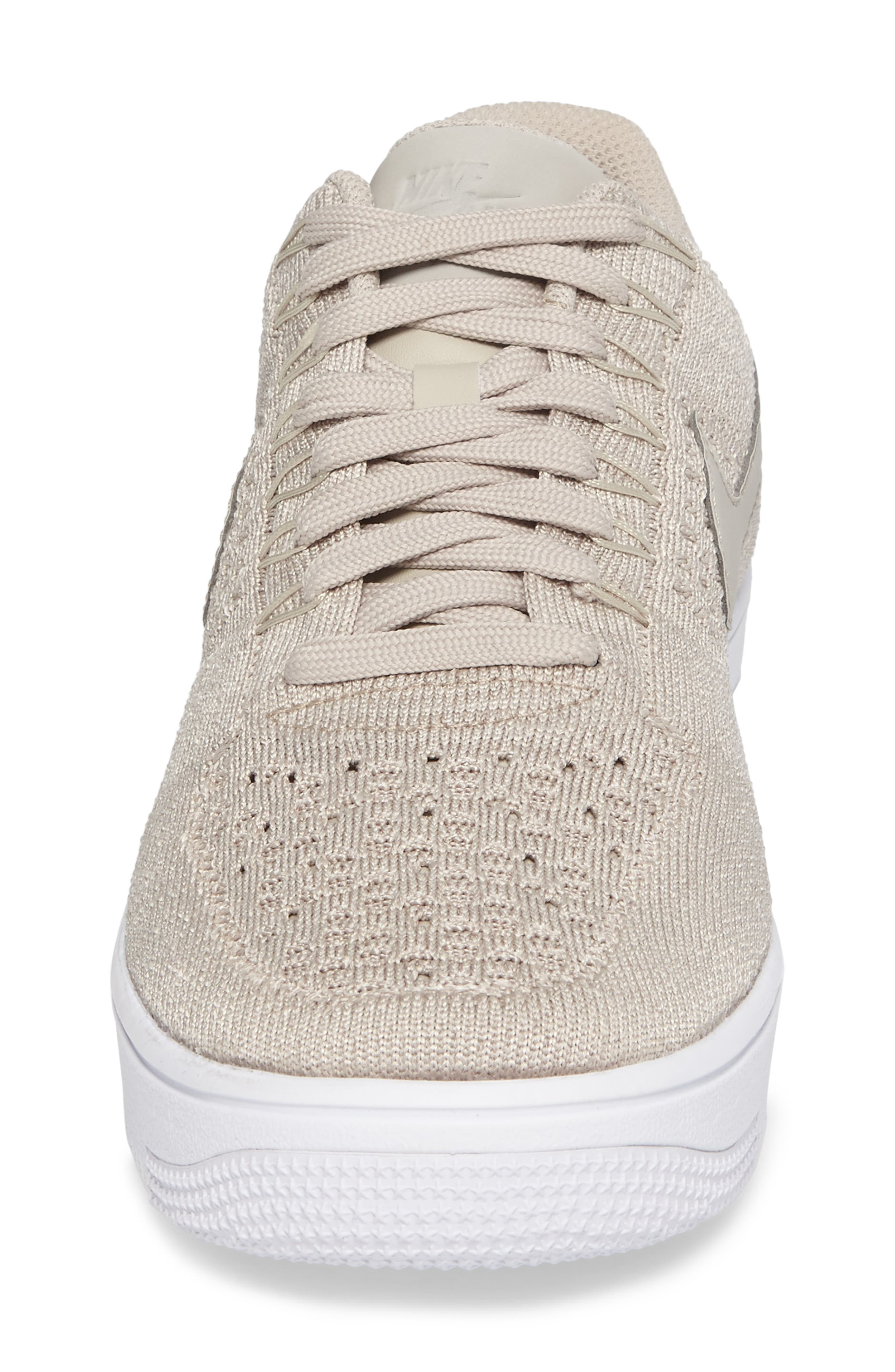 Air Force 1 Ultra Flyknit Low Sneaker,                             Alternate thumbnail 4, color,                             String/ String/ White