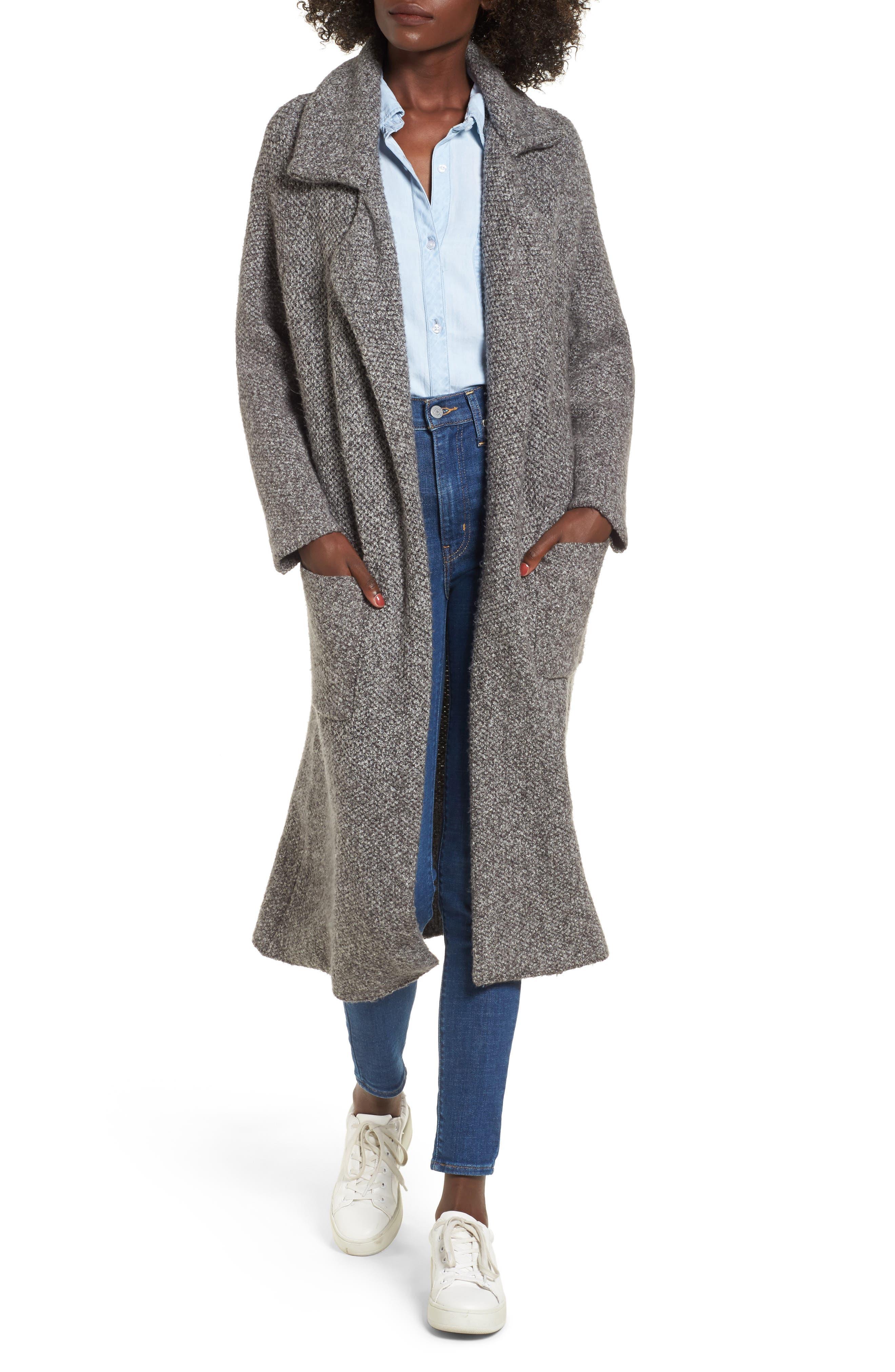 Kala Knit Sweater Jacket,                         Main,                         color, Grey