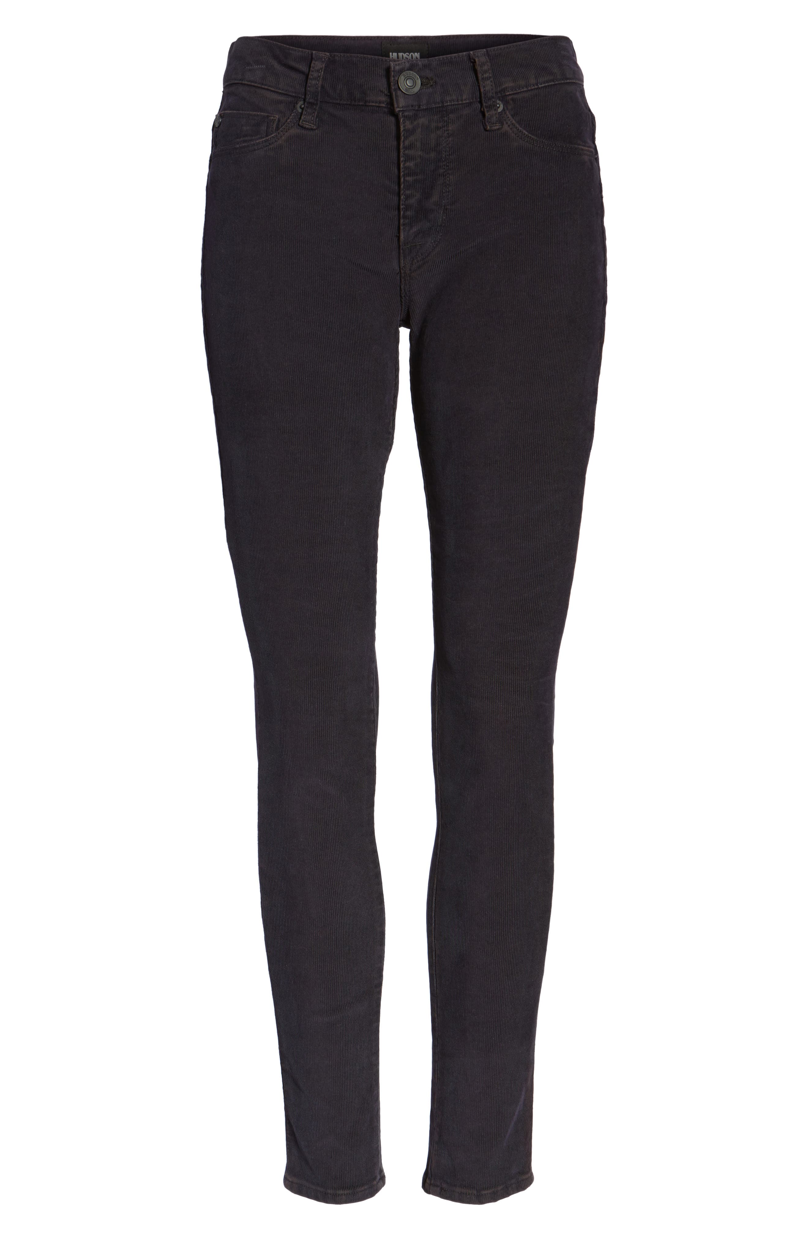 Nico Ankle Super Skinny Corduroy Pants,                             Alternate thumbnail 6, color,                             Broken Orchid