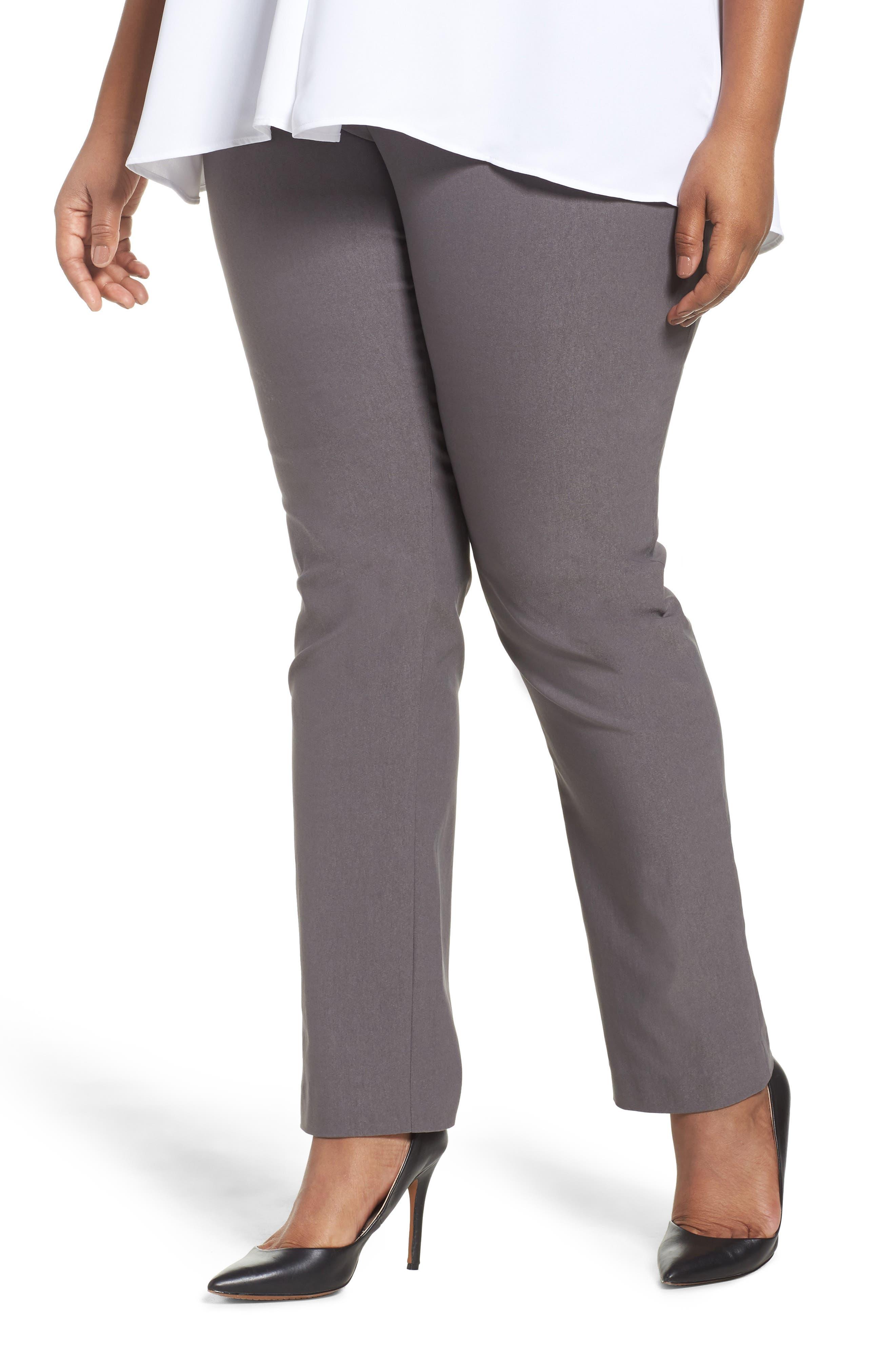 NIC+ZOE Wonder Stretch Straight Leg Pants (Plus Size)