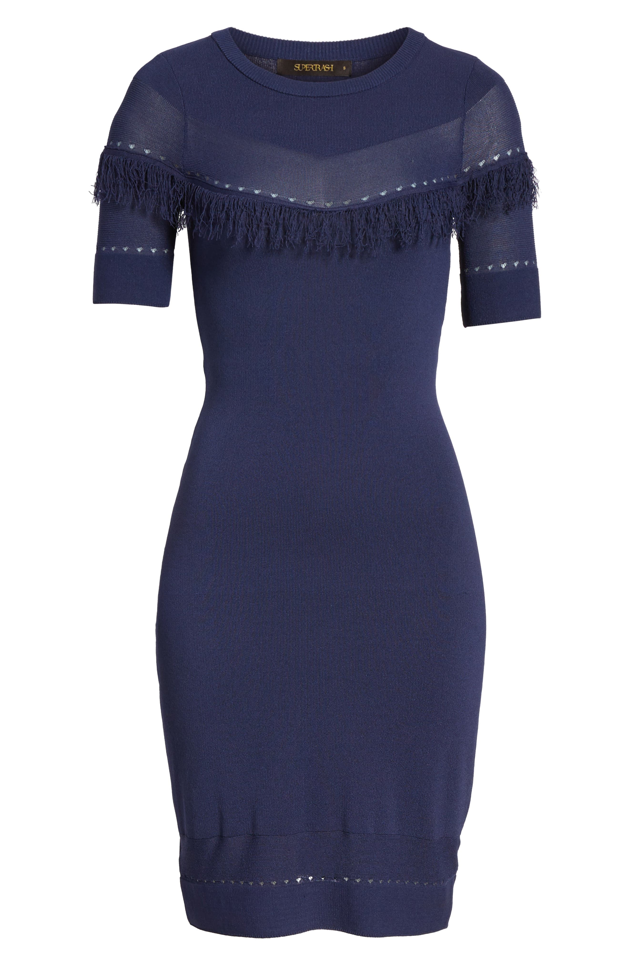 Dash Sheath Dress,                             Alternate thumbnail 6, color,                             Evening Blue