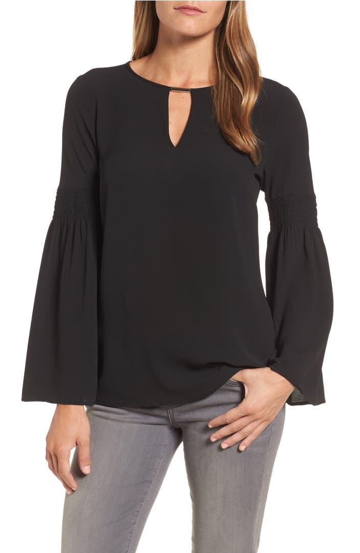 michael michael kors bell sleeve blouse nordstrom. Black Bedroom Furniture Sets. Home Design Ideas