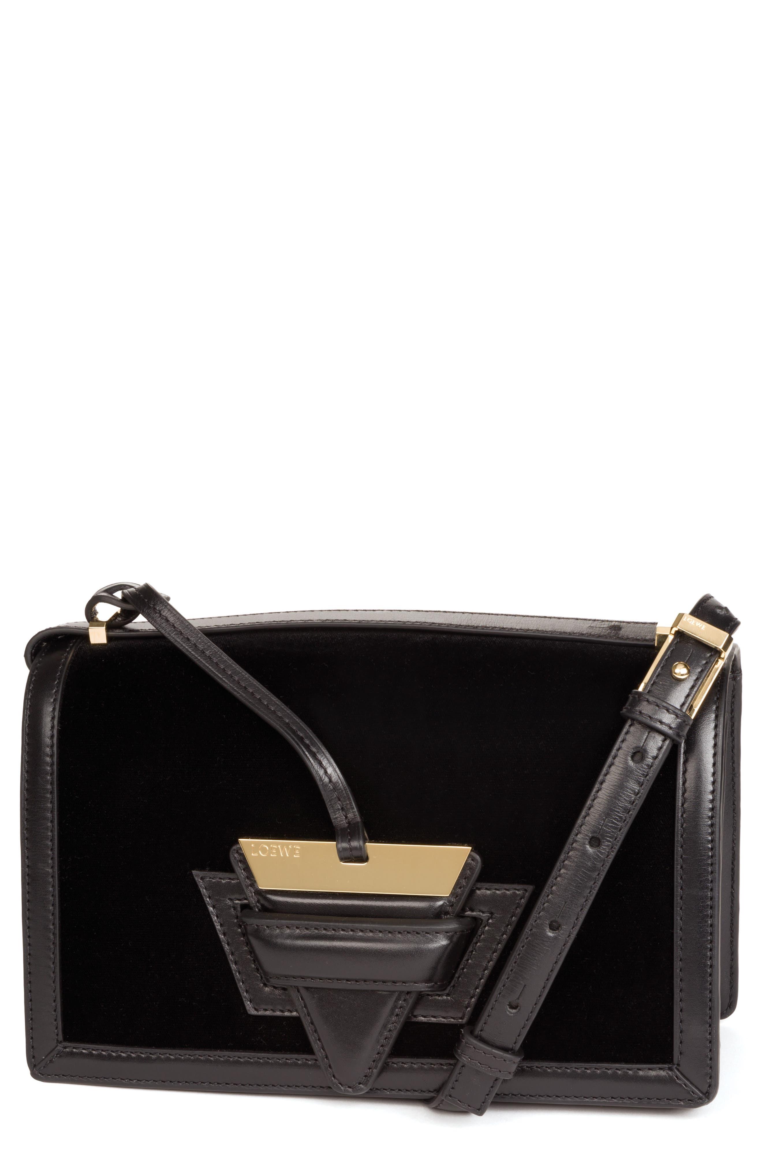 Loewe Medium Barcelona Velvet Crossbody Bag