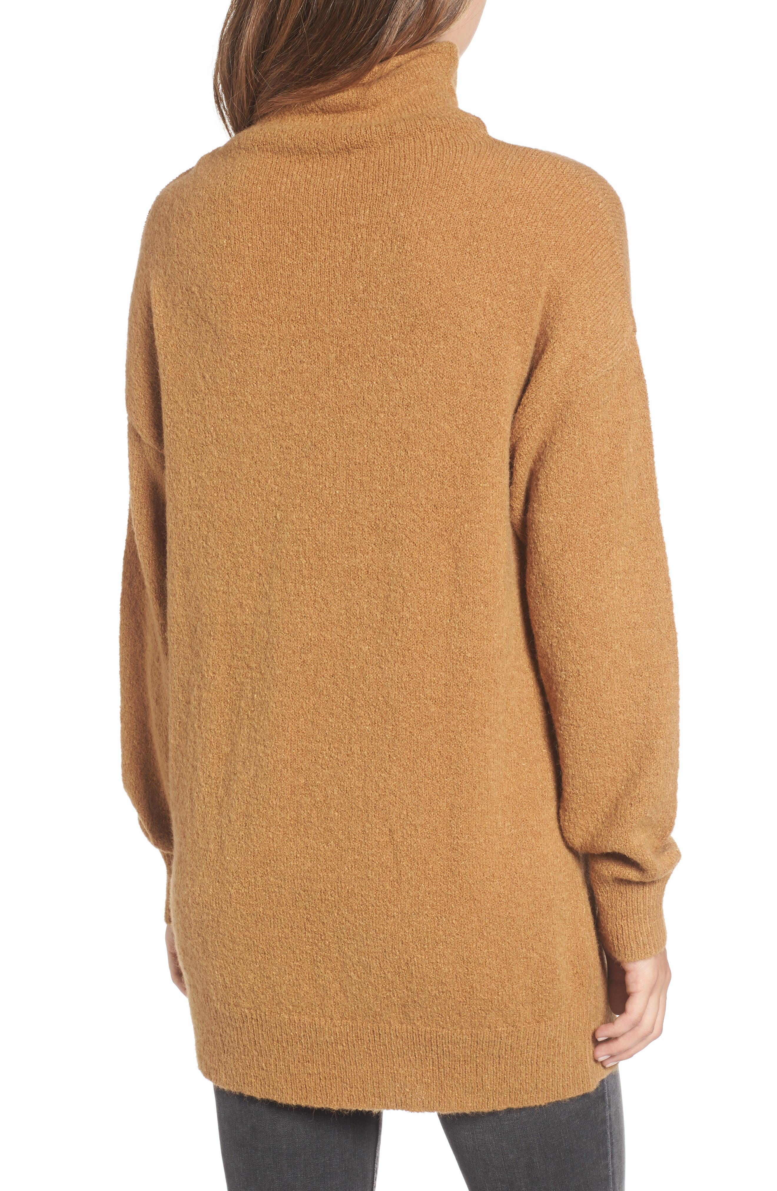 Alternate Image 2  - BP. Bouclé Turtleneck Tunic Sweater