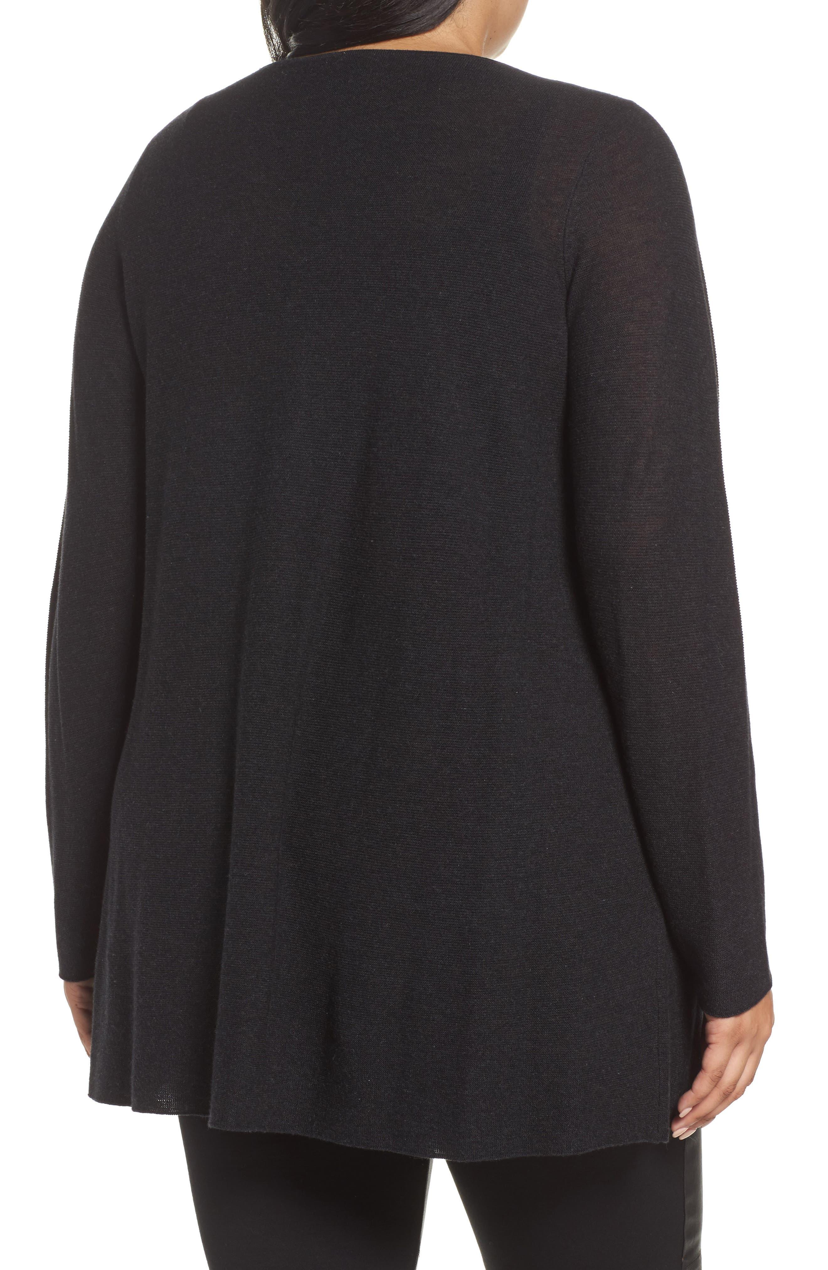 Alternate Image 2  - Eileen Fisher Jewel Neck Tunic Sweater (Plus Size)