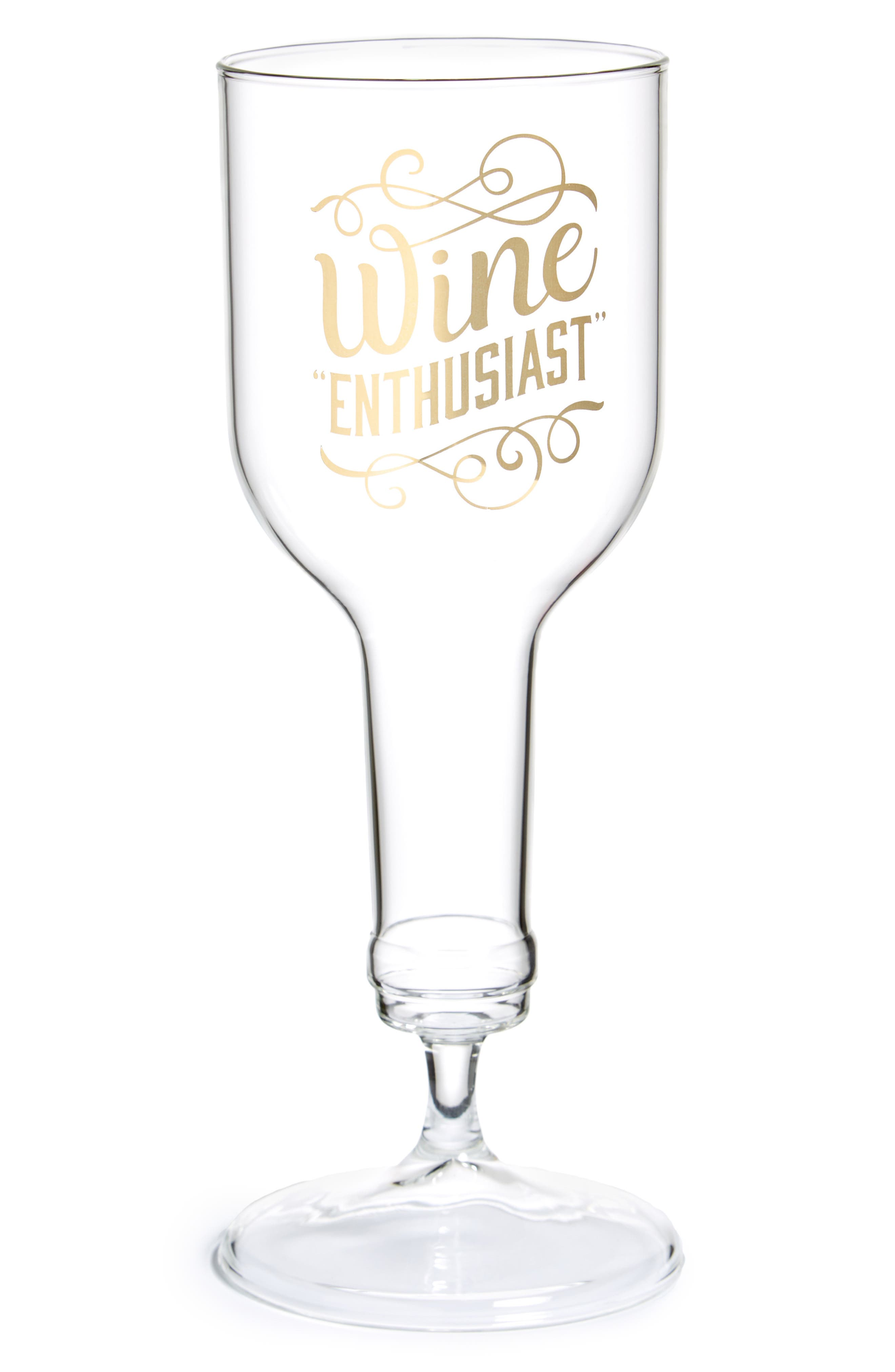 Wine Enthusiast Glass,                         Main,                         color, Gold
