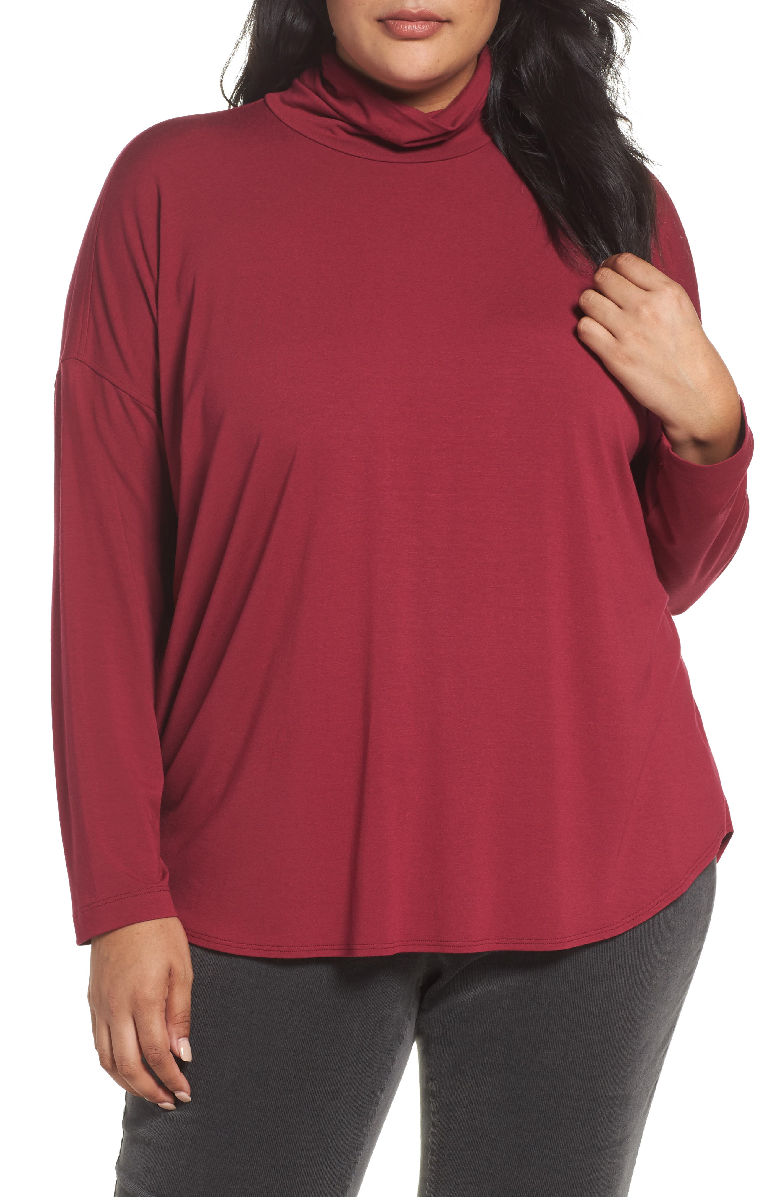 Eileen Fisher Turtleneck Tunic (Plus Size)